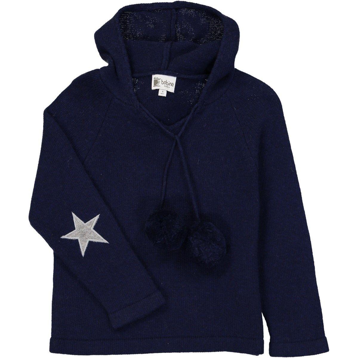 Pull à capuche avec coudières étoile