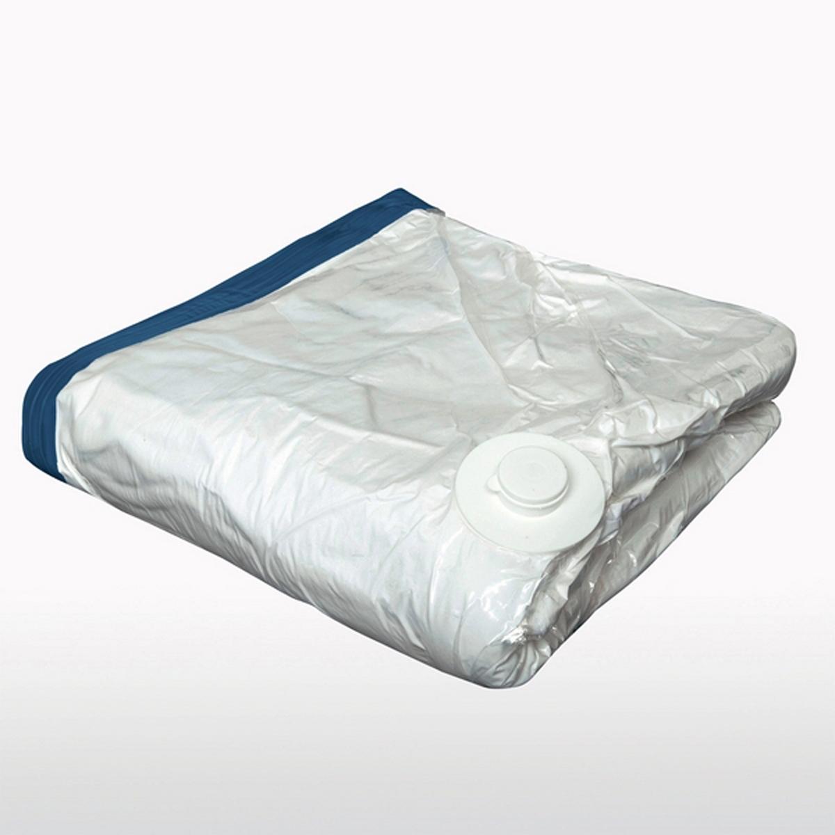 2 вакуумных чехла, Ш.90 x В.110 смХарактеристики чехла для подушек или лыжных комбинезонов :Из прозрачного пластика.Герметичный чехол, с обработкой от пыли.Описание чехла для подушек или лыжных комбинезонов :Вакуум создается пылесосом через клапан в верхней части чехла.Застежка на молнию.В комплекте защитный пластиковый чехол. Размеры :Ш.90 x В.110 см<br><br>Цвет: белый<br>Размер: единый размер