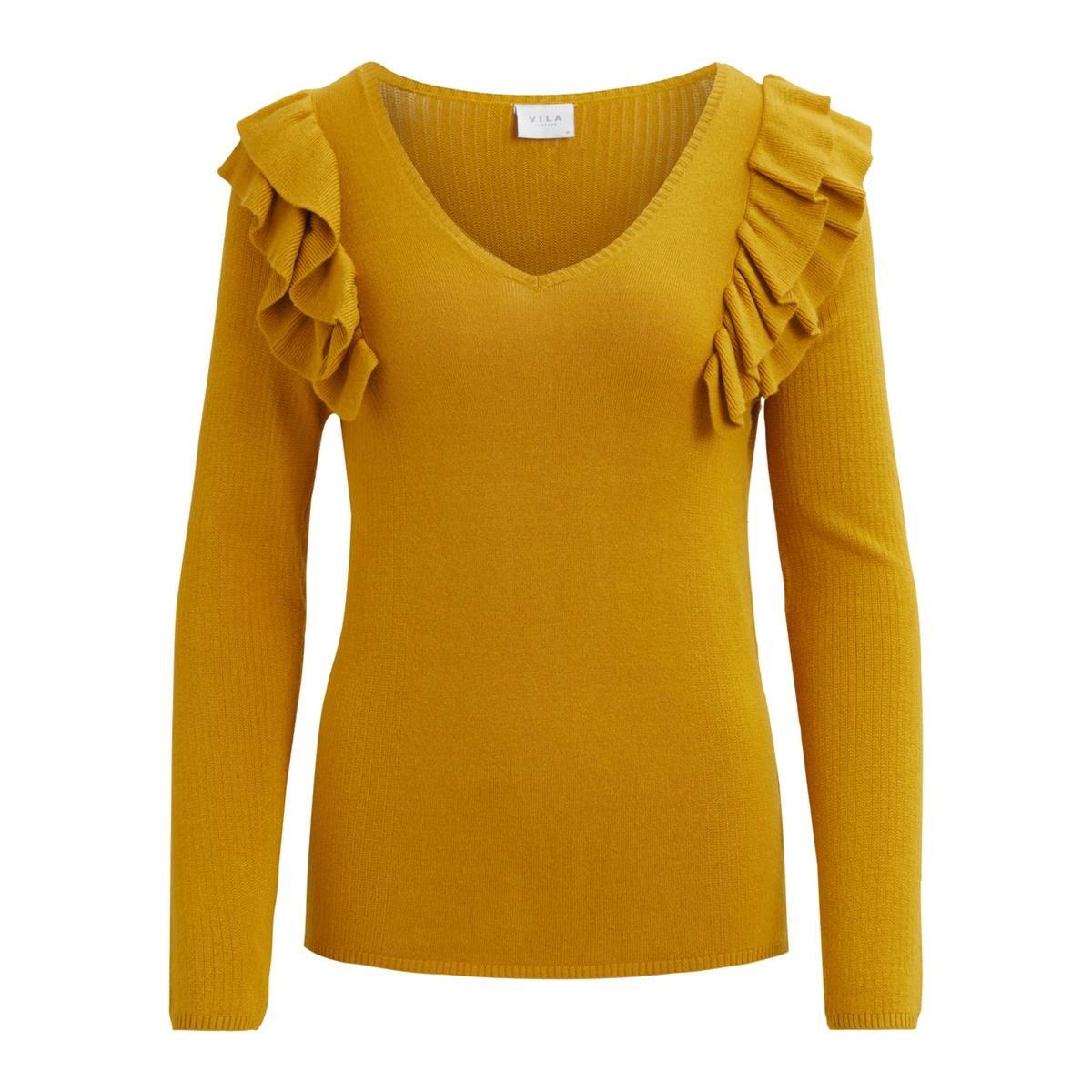 Пуловер с V-образным вырезом из тонкого трикотажаОписание:Детали •  Длинные рукава •   V-образный вырез •  Тонкий трикотаж Состав и уход •  80% вискозы, 20% полиамида •  Следуйте советам по уходу, указанным на этикетке<br><br>Цвет: желтый шафран<br>Размер: S