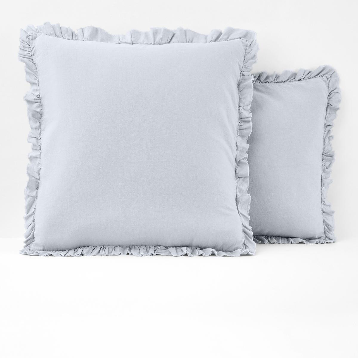 Наволочка La Redoute Однотонная из льна и хлопка NILLOW 50 x 70 см серый комплект из полотенце для la redoute рук из хлопка и льна nipaly 50 x 100 см белый