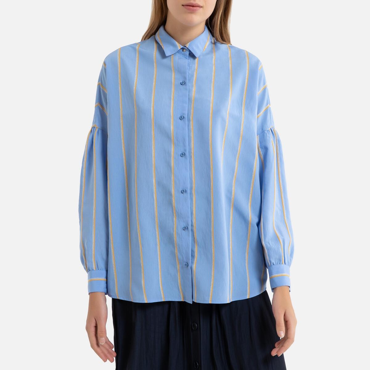 Блузка La Redoute В полоску с длинными рукавами BOTAN XS синий блузка la redoute в полоску с длинными рукавами 12 лет 150 см другие
