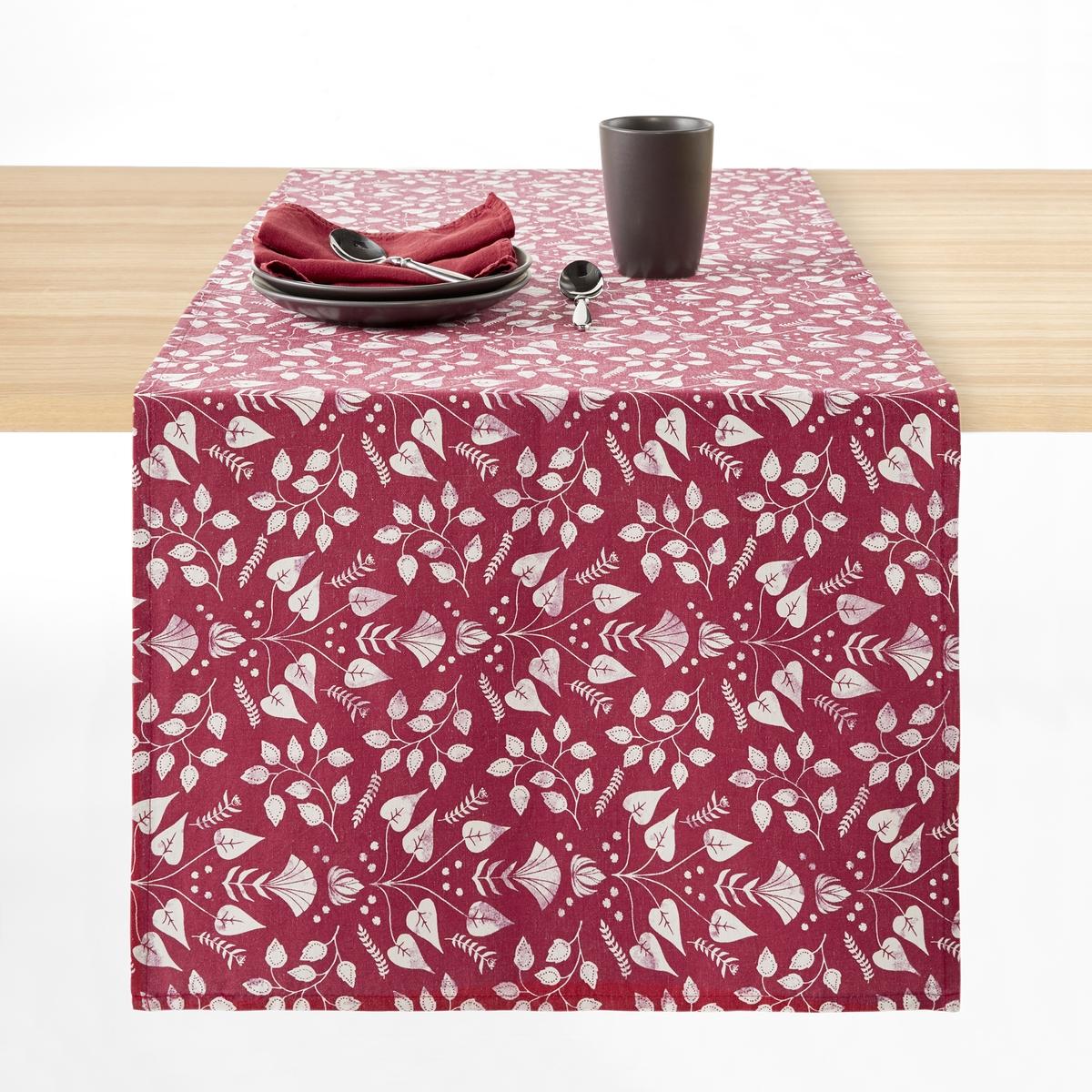 Дорожка столовая с принтом из льна и хлопка ROMANE брюки из лиоцелла и льна