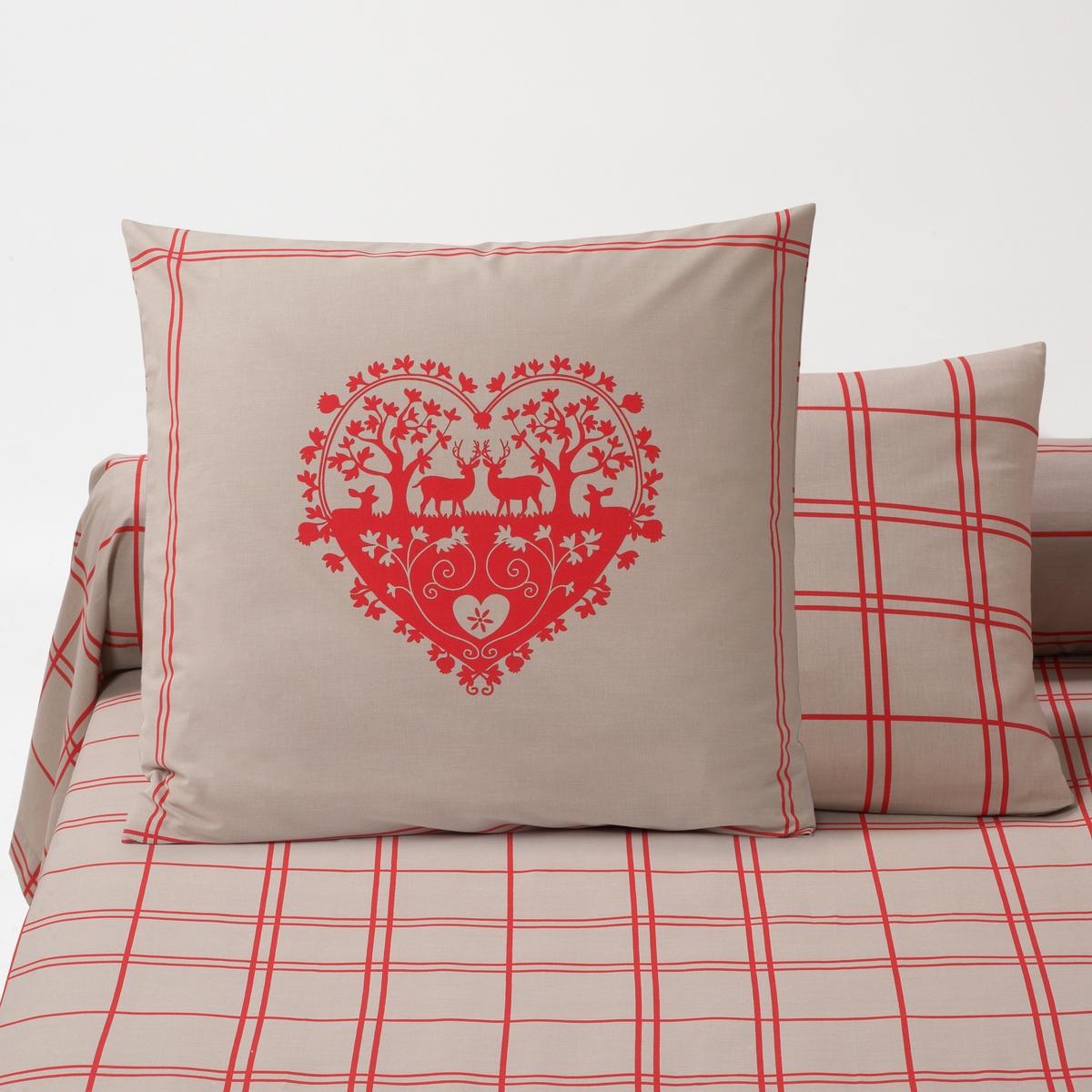 Наволочка La Redoute Или чехол для подушки-валика с рисунком Fallaz 63 x 63 см красный наволочка la redoute из хлопка urban graph 63 x 63 см серый