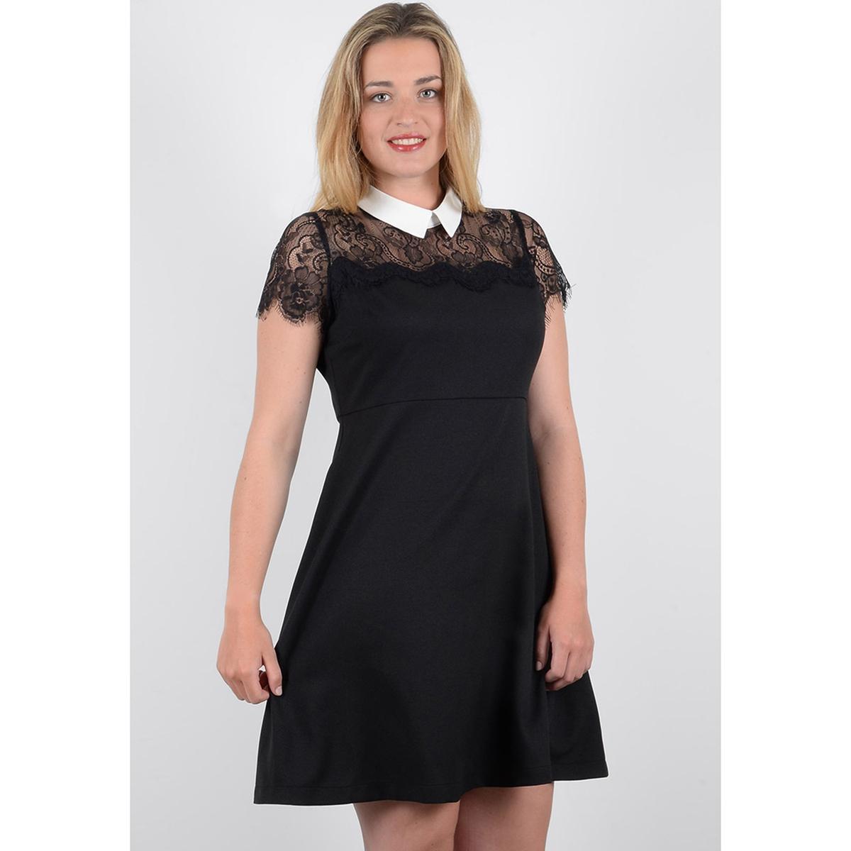 Платье короткое расклешенное однотонное,  короткими рукавами