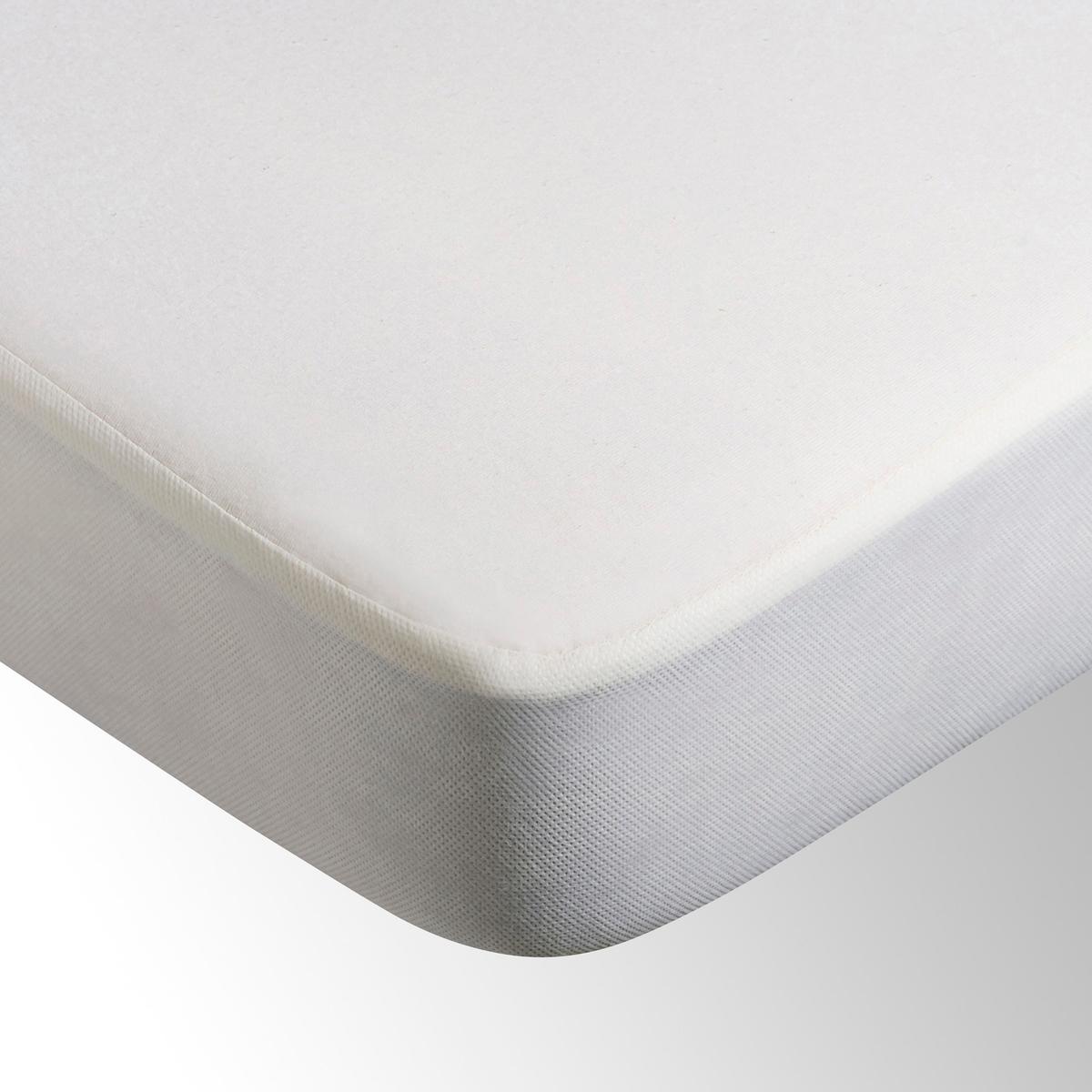 Чехол защитный для матраса непромокаемый, 100% биохлопокЗащитный чехол из джерси, 100% органически выращенный натуральный хлопок 135 г/м?, непромокаемый 100% полиуретан. Микро-дышащий защитный чехол эффективно снижает интенсивность потоотделения.Клапан 100% полипропилен, 4 уголка (27 см).Стирка при температуре до 60°.<br><br>Цвет: экрю<br>Размер: 160 x 200 см