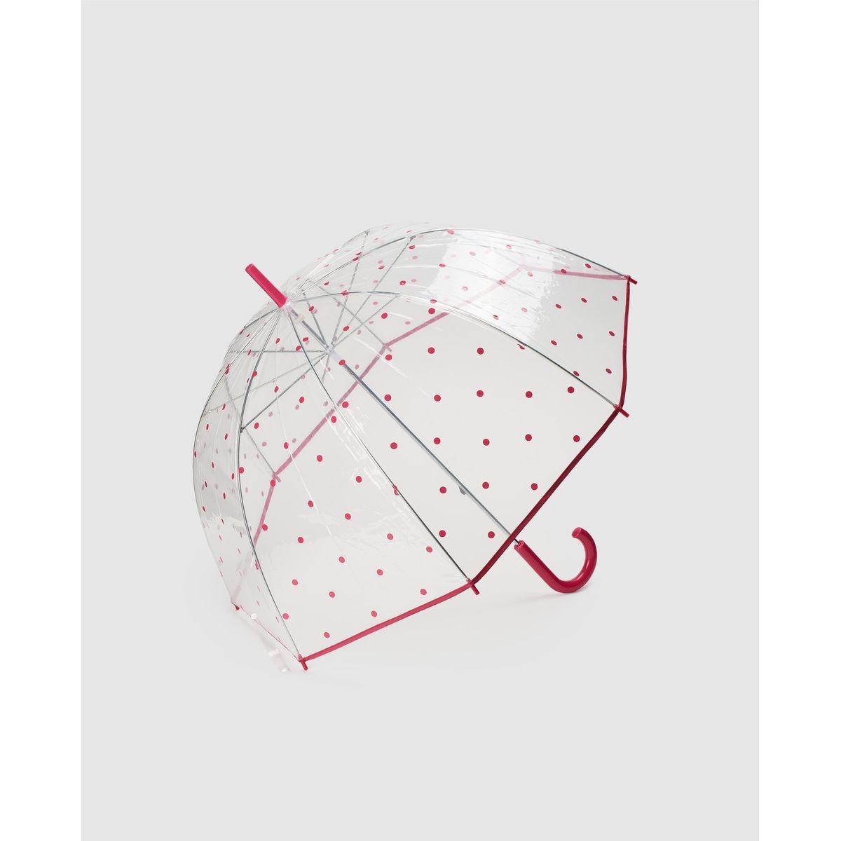 Parapluie transparent à motif