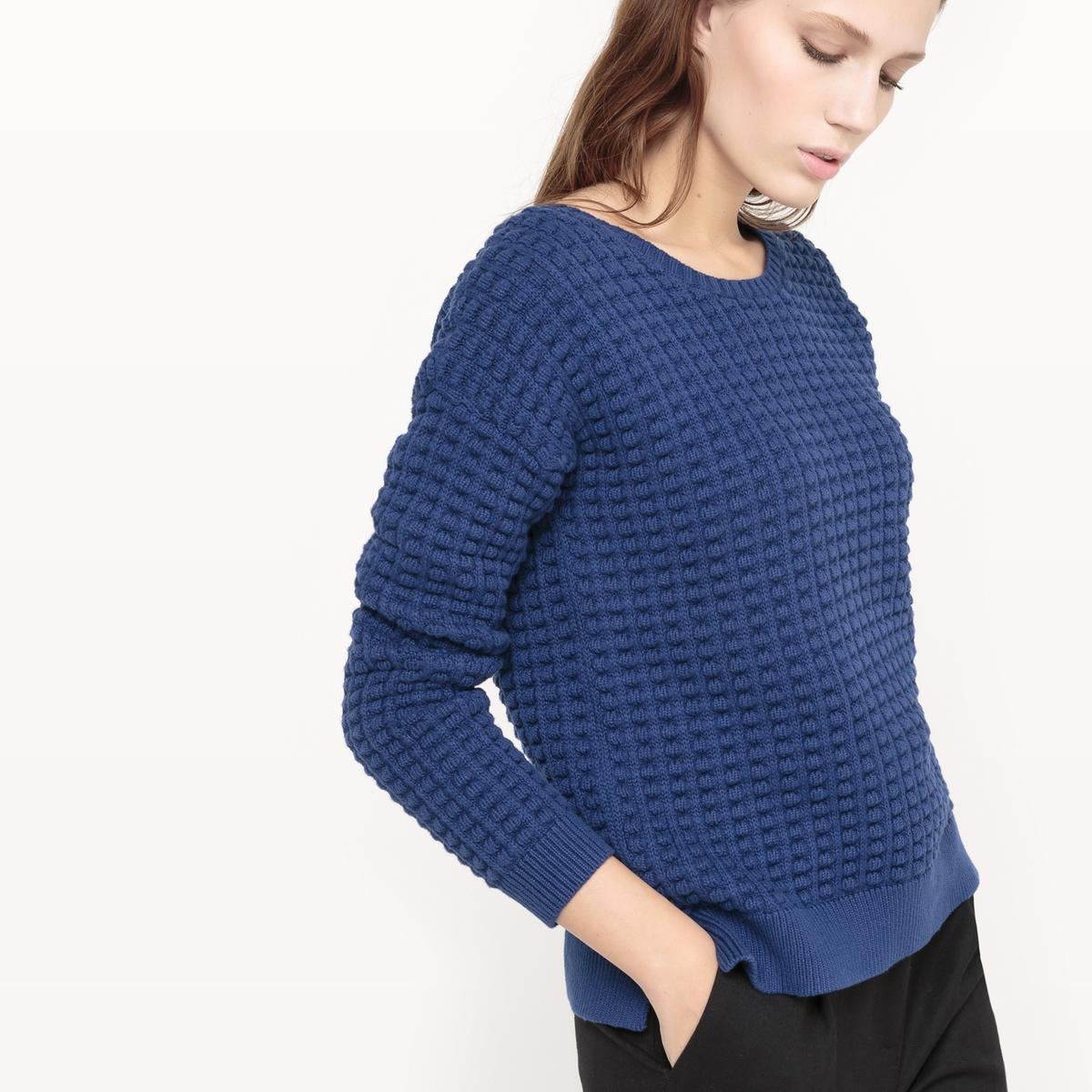 Пуловер хлопковый, вязаный трикотажВязаный хлопковый пуловер French Connection.Красивый трикотаж и модный покрой: Изысканный очаровательный пуловер!  Состав и описание : Материал : 100% хлопка.Марка : French Connection<br><br>Цвет: кремовый,синий