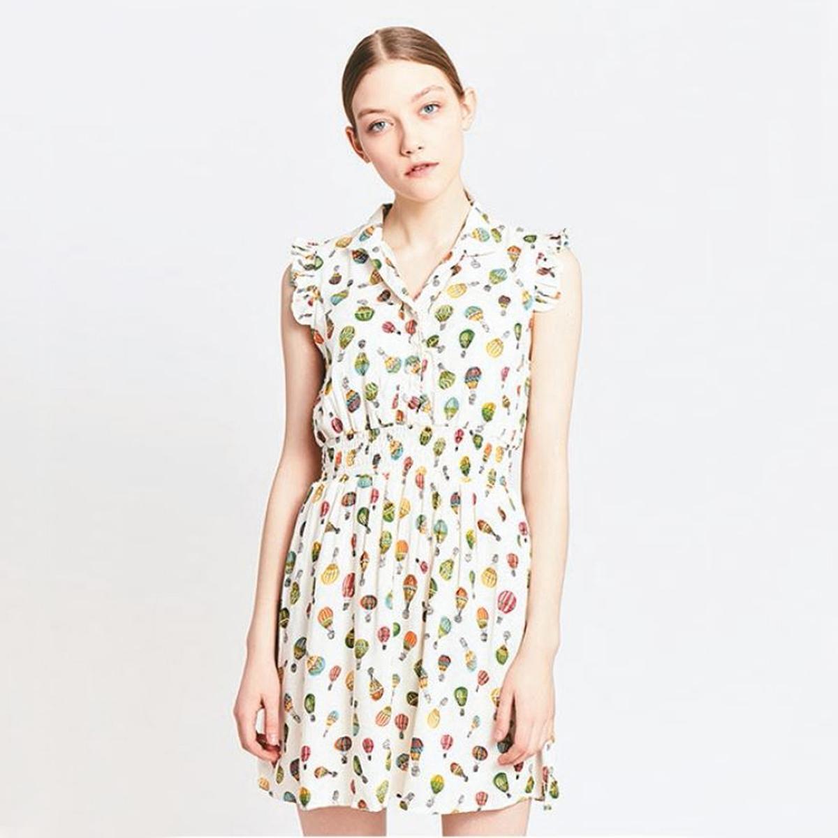 Платье короткое без рукавов