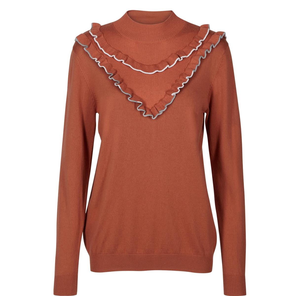Пуловер с воланами и воротником-стойкой люстра на штанге arte lamp aroma a6582pl 3br