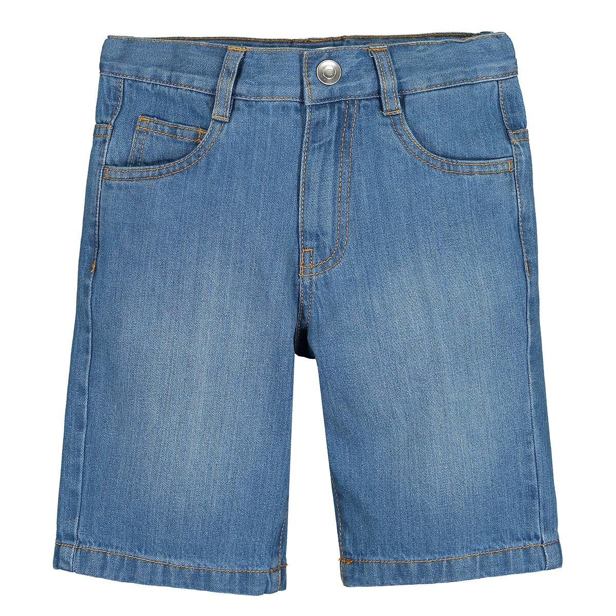 Бермуды LaRedoute Из джинсовой ткани 3-12 лет 4 синий