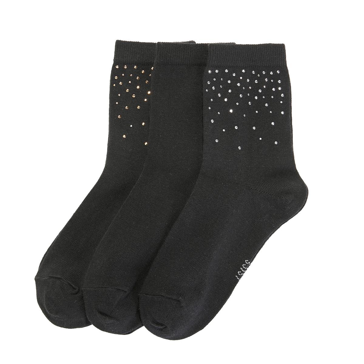 3 пары носков с мелкими заклепками La Redoute Collections