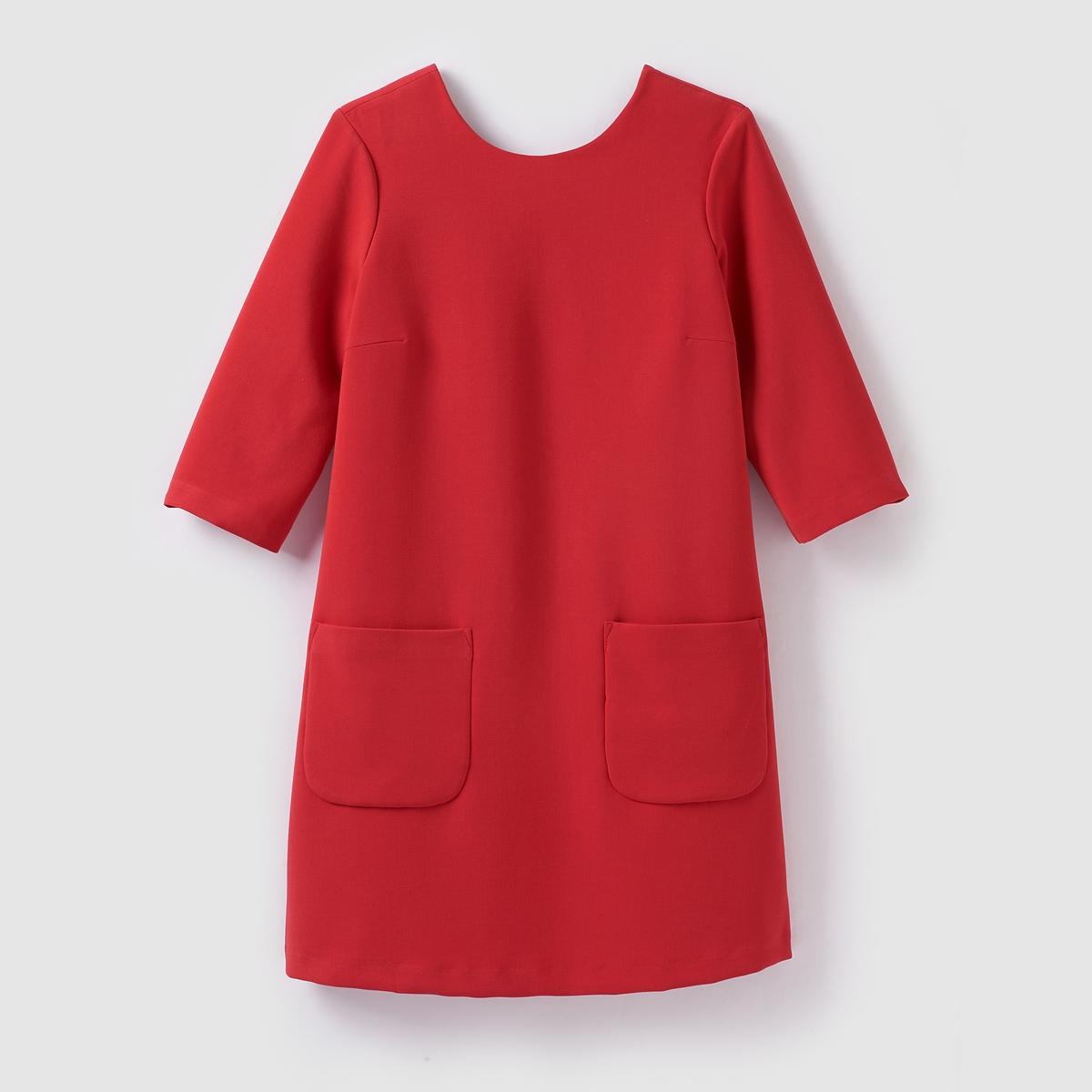 Платье короткое с короткими рукавамиПлатье короткое  VERO MODA . Прямой покрой. Круглый вырез. Короткие рукава.           Состав и деталиМатериал          63% полиэстера, 33% вискозы, 4% эластана Марка VERO MODA.               Уход     Следуйте рекомендациям по уходу, указанным на этикетке изделия<br><br>Цвет: красный,черный<br>Размер: S