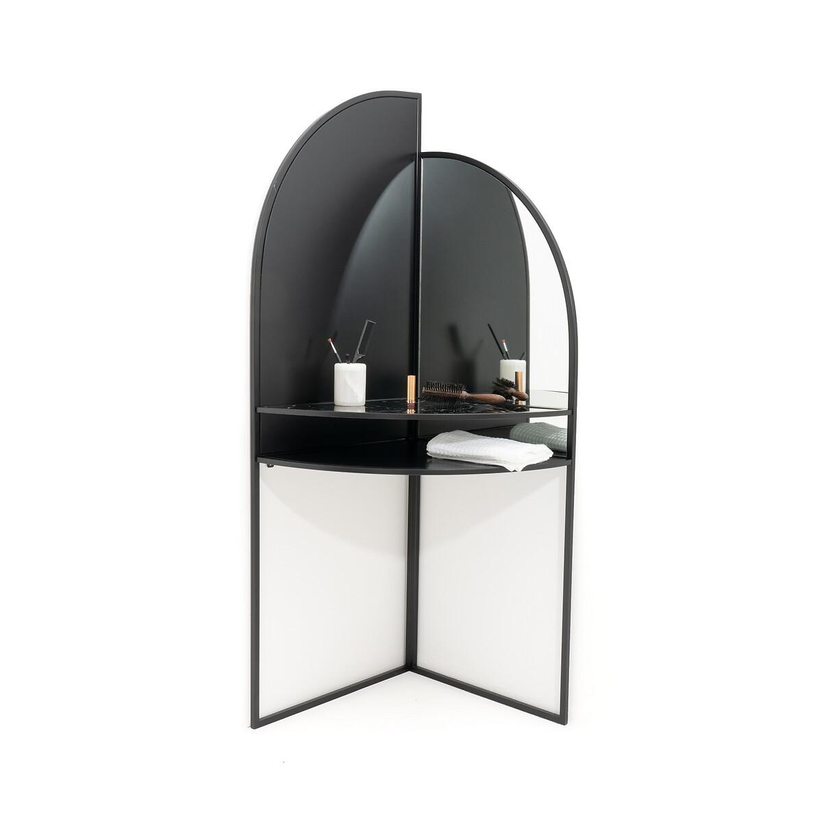 Стол LaRedoute Туалетный из металла и стекла Palazzo единый размер черный