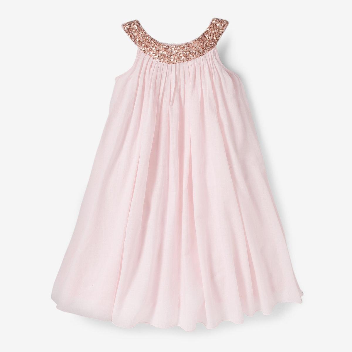 Платье с блестками на вырезе, 3-12 лет от La Redoute Collections