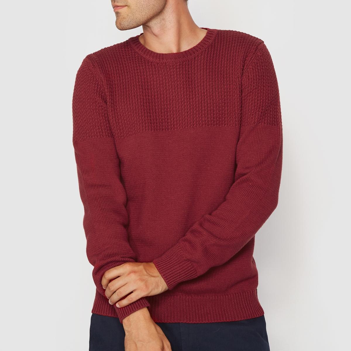 Пуловер с круглым вырезом с оригинальным узоромСостав &amp; Детали :Основной материал : 100% хлопокДлина : 68 см.Марка :      R ?ditionУход : Машинная стирка при 40°, на деликатном режиме Стирать вместе с одеждой подобных цветовСтирать и гладить с изнаночной стороныСухая (химическая) чистка запрещена<br><br>Цвет: красный<br>Размер: L.XXL