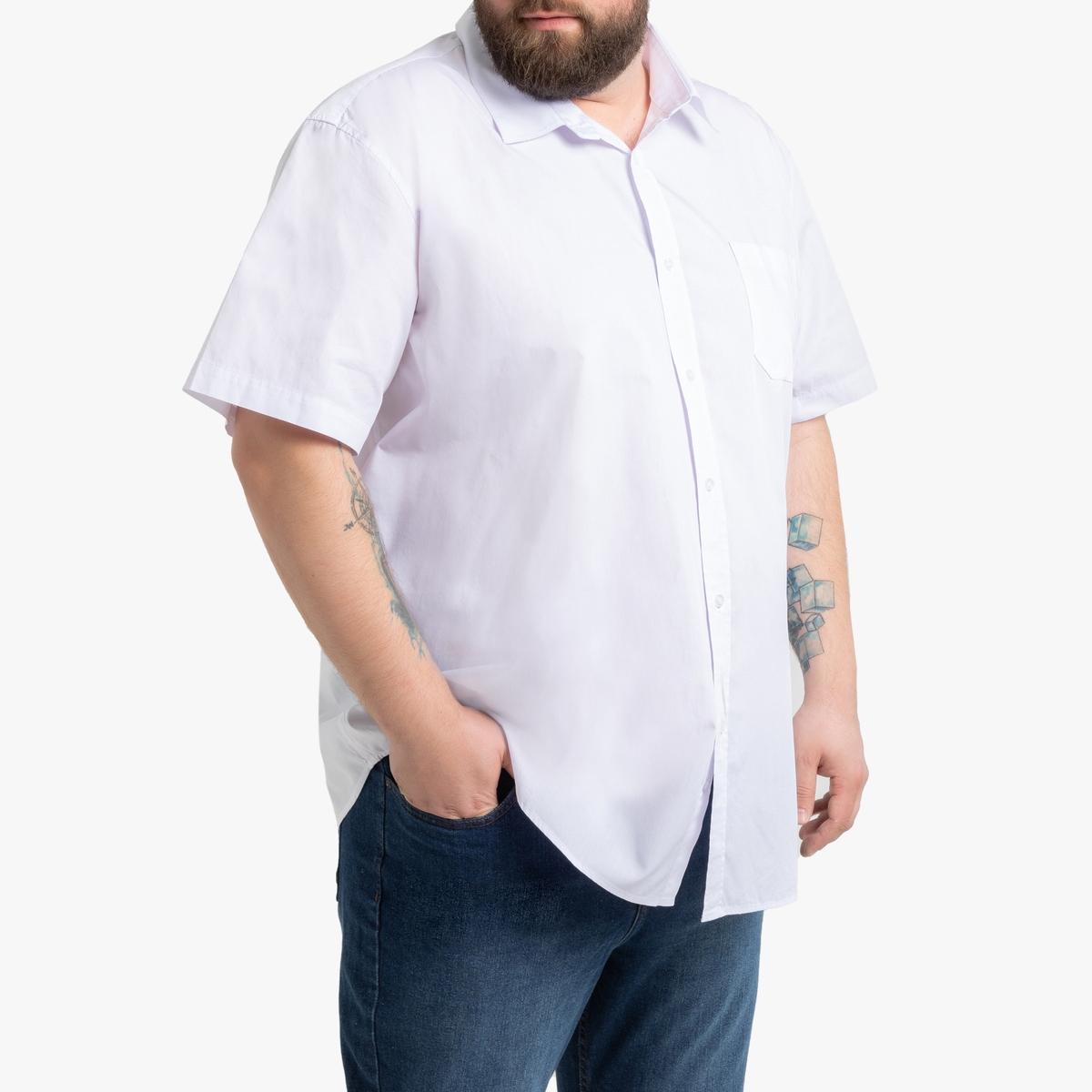 Рубашка La Redoute Прямого покроя с рисунком из коллекции больших размеров 51/52 белый