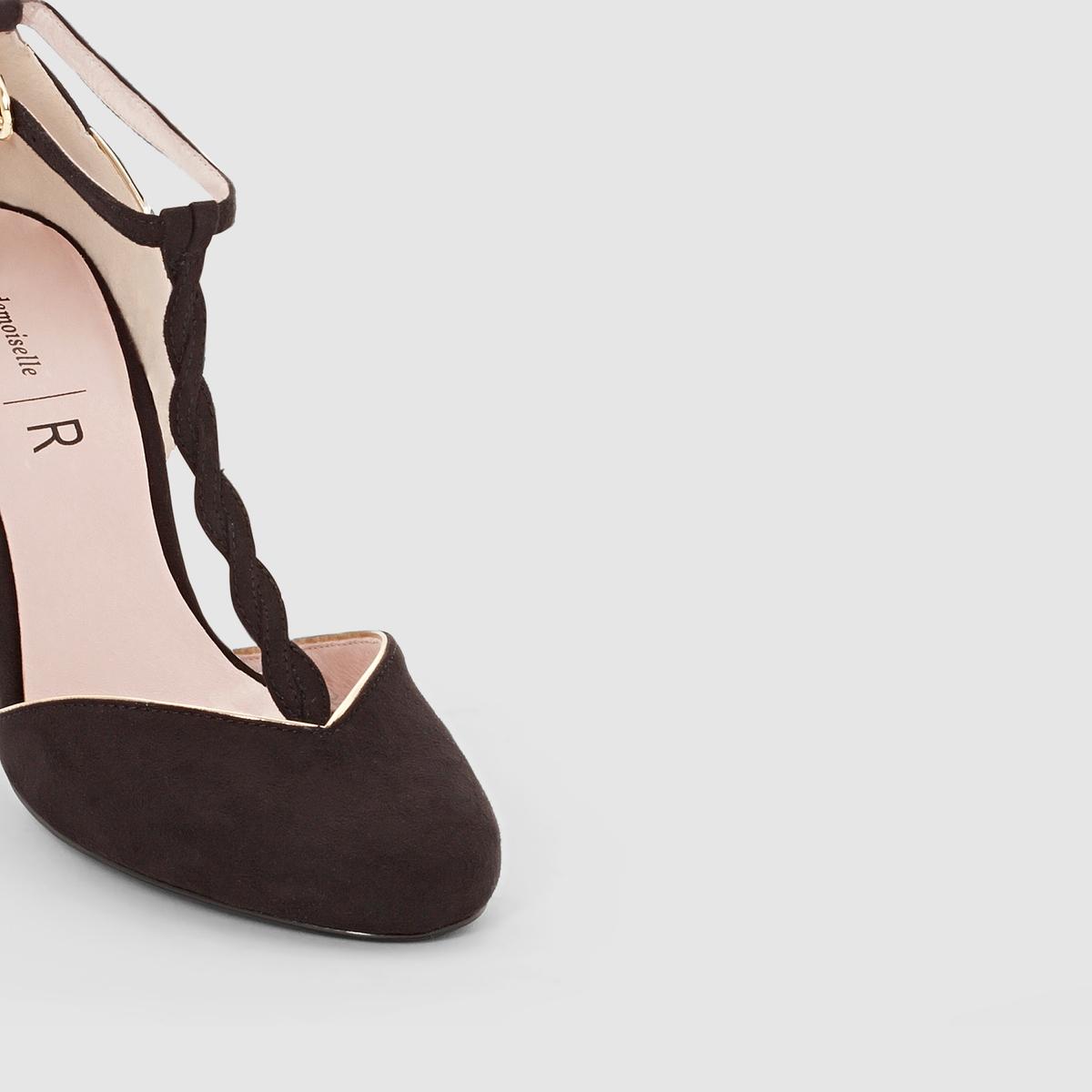 Босоножки с ремешком и шнуровкойВерх/ Голенище : Синтетический материал                 Подкладка : Кожа.                 Стелька : Кожа.                 Подошва : Эластомер                 Форма каблука : высокий.                 Мысок : Закругленный                 Застежка : Ремешок/пряжка     Марка: Mademoiselle R.         Мы рекомендуем Вам заказывать модель на один размер меньше Вашего обычного размера<br><br>Цвет: черный<br>Размер: 41