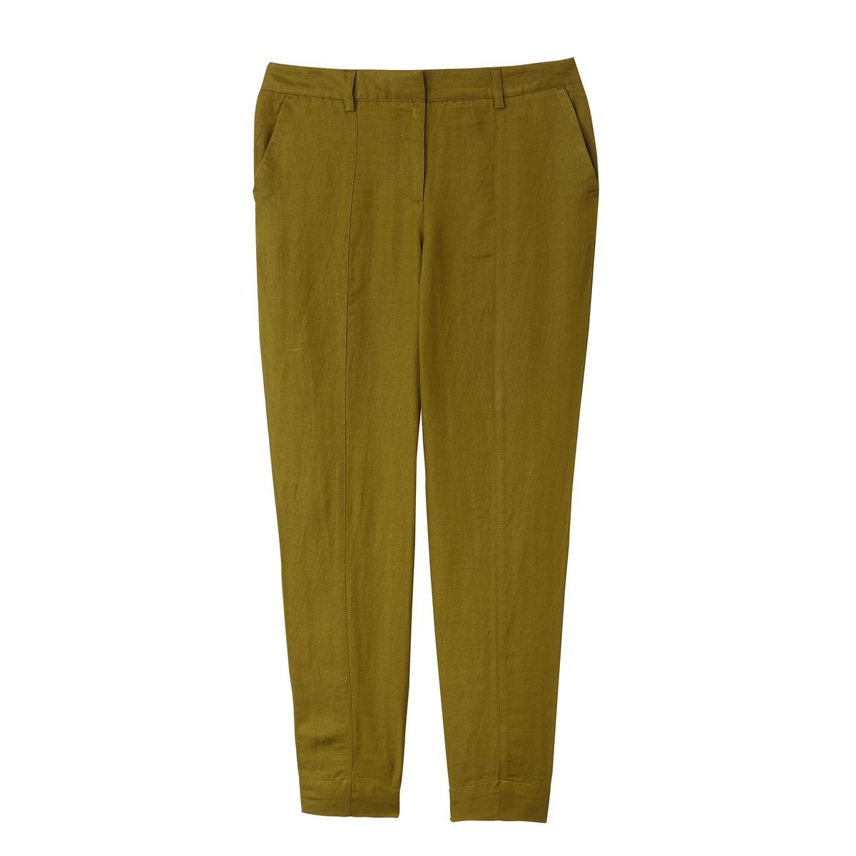 Брюки каррот из льна и вискозы брюки из вискозы loeve
