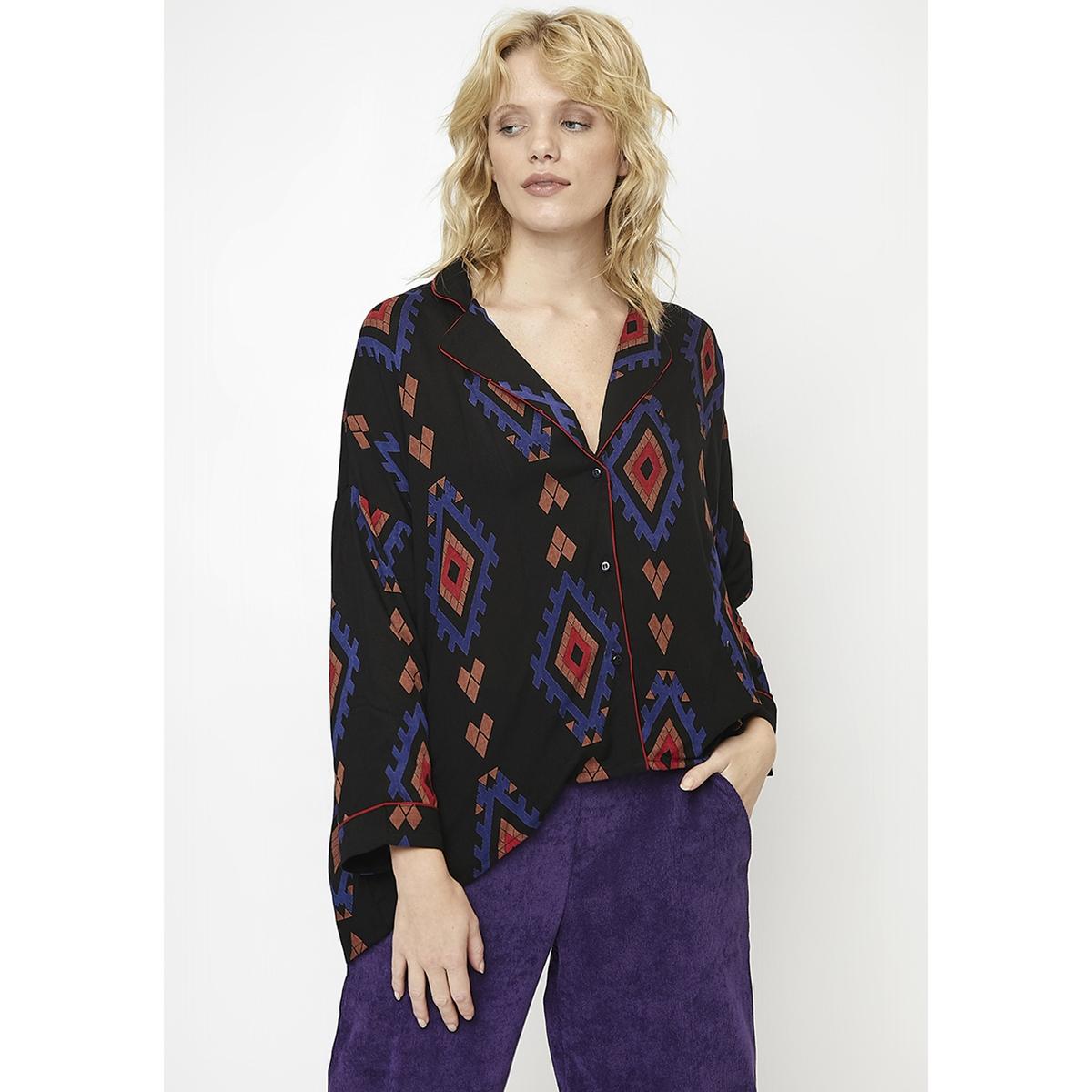 купить Рубашка La Redoute С этническим принтом в стиле пижамы L черный дешево