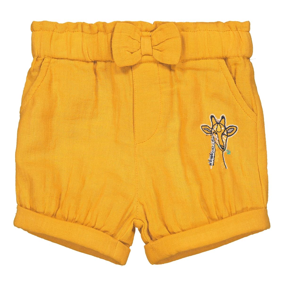 Шорты La Redoute С вышивкой мес - года 3 года - 94 см желтый шорты с вышивкой 1 мес 3 года