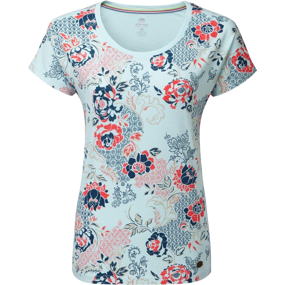 Meytho - T-shirt manches courtes Femme - bleu/Multicolore