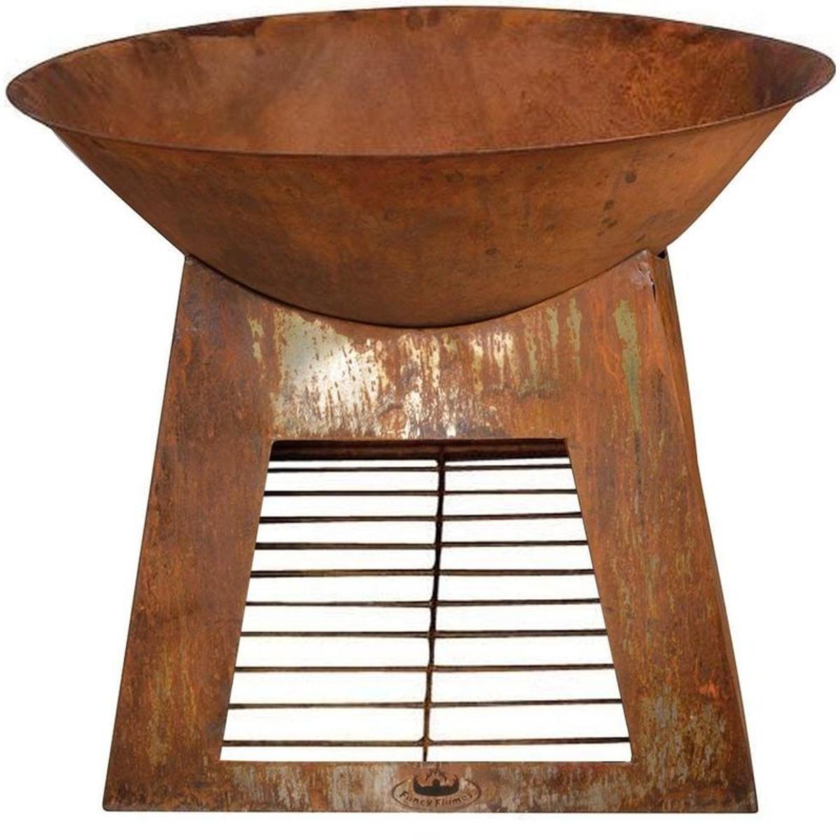 Vasque porte bûches en métal 60 cm