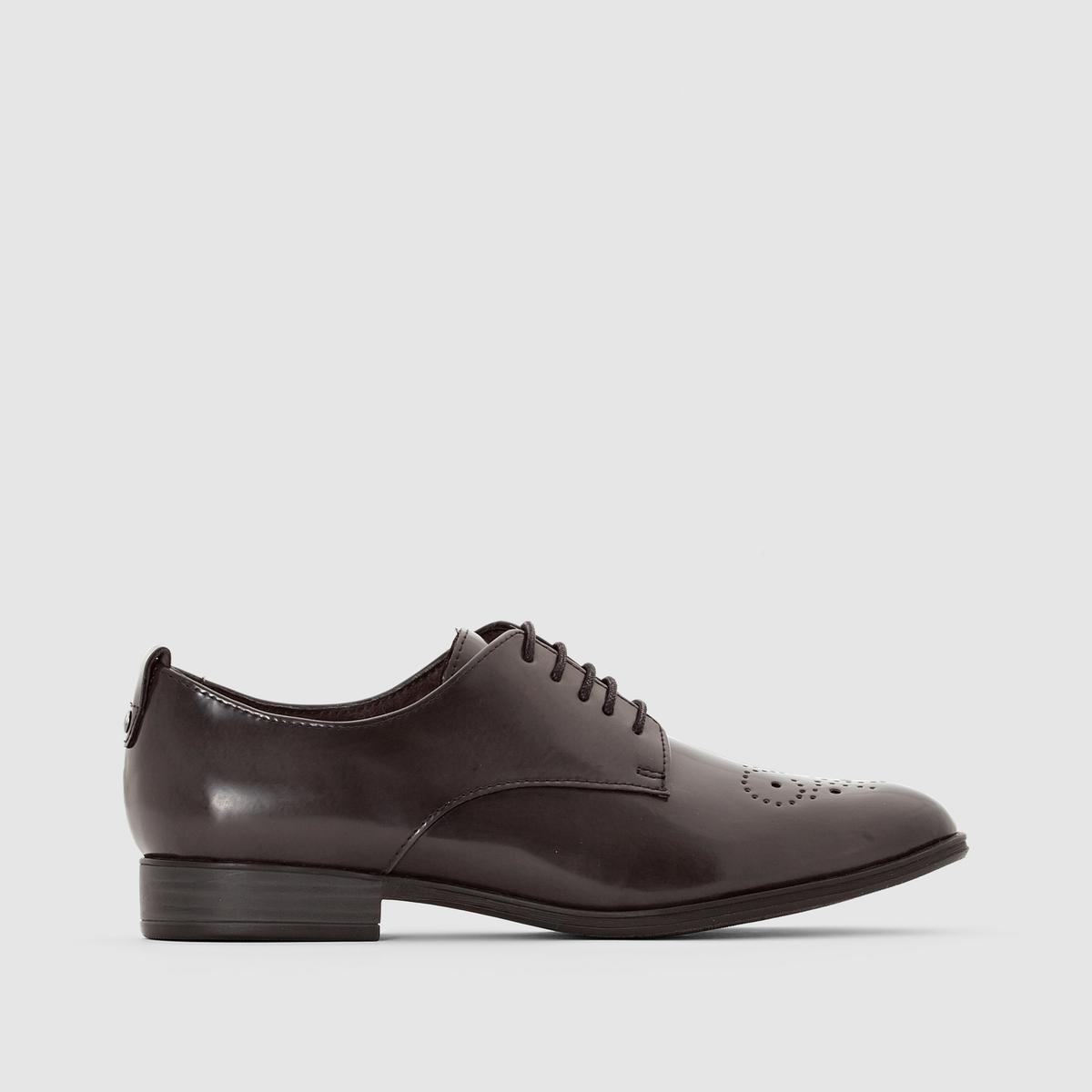 Дерби 23201Подкладка : Коже и текстиль    Подошва: Синтетический материал.   Высота каблука: 2,5 см.   Форма каблука : Плоский каблук   Мысок : ЗакругленныйЗастежка : Шнуровка<br><br>Цвет: серый<br>Размер: 41