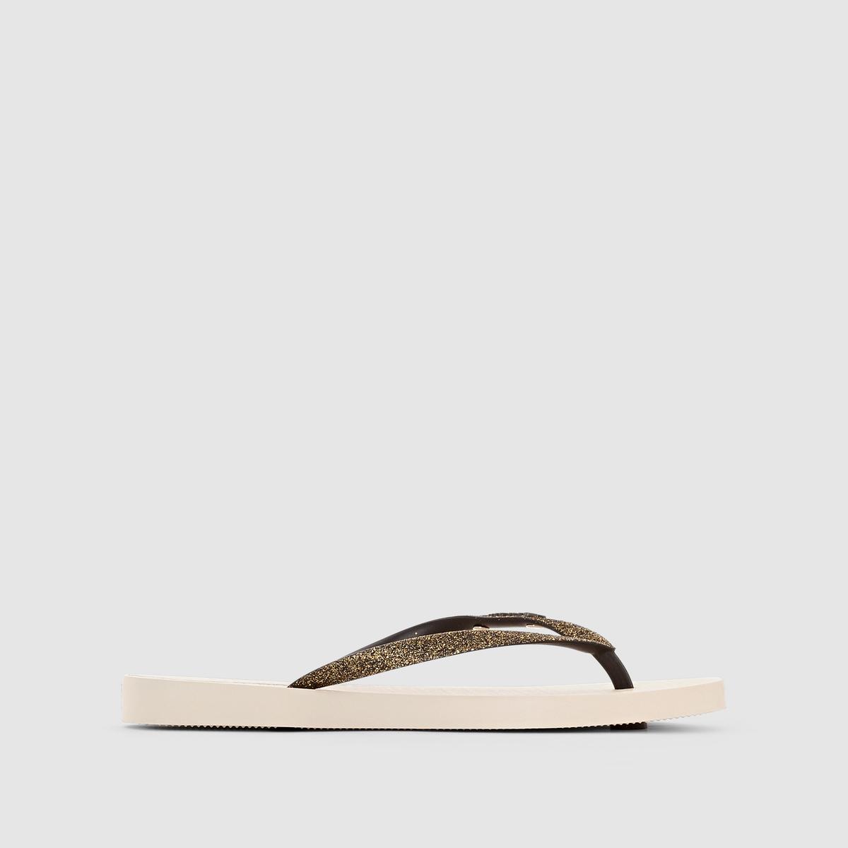 Вьетнамки Lolita III FemВерх/Голенище : каучук   Стелька : каучук   Подошва : каучук   Форма каблука : плоский каблук   Мысок : открытый мысок   Застежка : без застежки<br><br>Цвет: бежевый/ черный