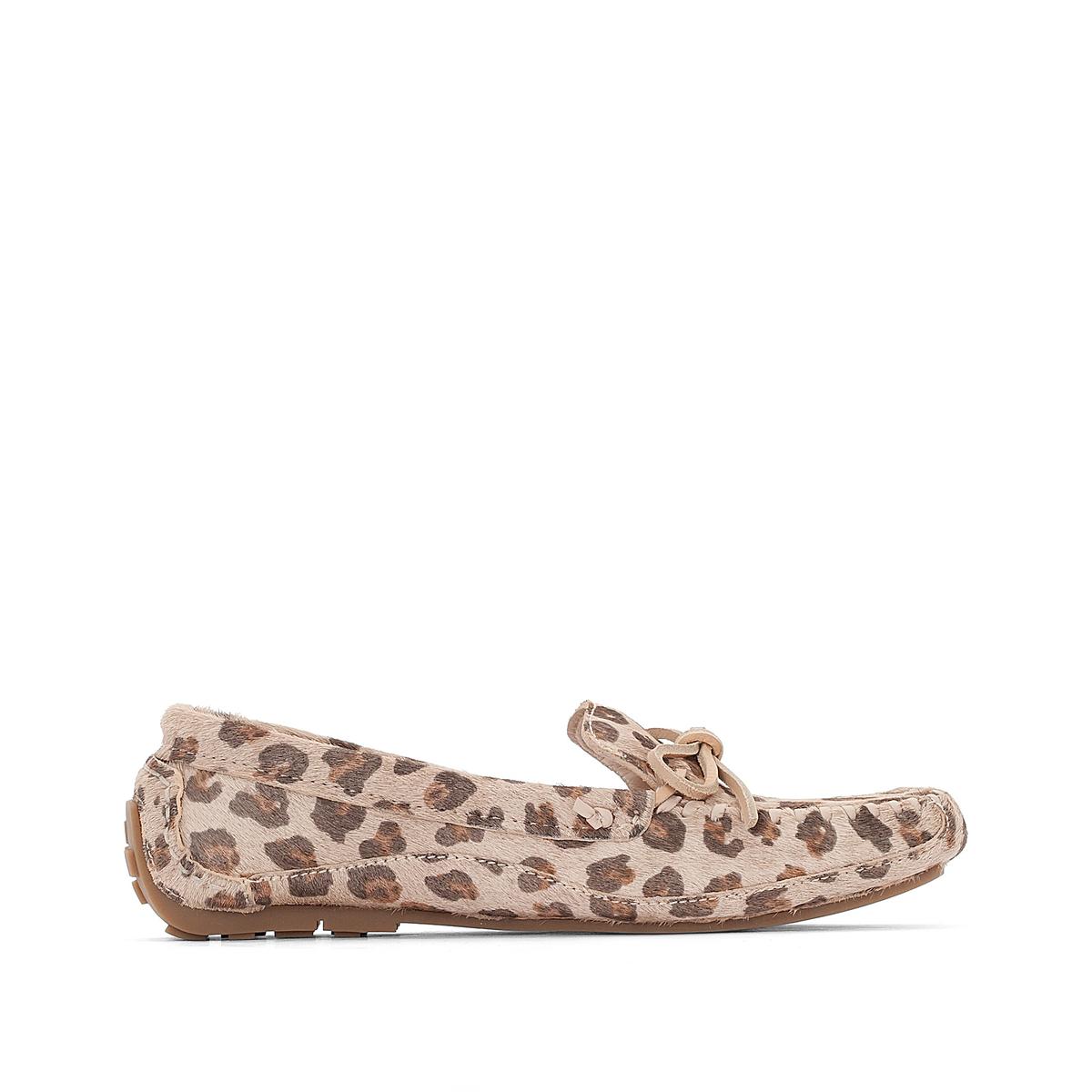 Мокасины кожаные Natala RioВерх : Кожа.   Подкладка : Кожа.   Стелька : Кожа.   Подошва : Каучук   Высота каблука : 0,5 см   Форма каблука : плоский каблук   Мысок : закругленный   Застежка : без застежки<br><br>Цвет: леопардовый рисунок