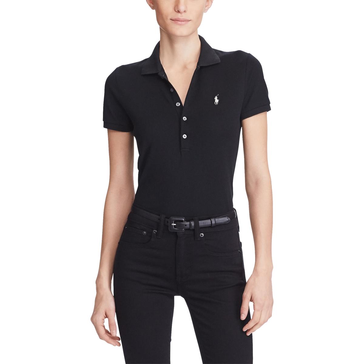 Футболка-поло La Redoute С короткими рукавами L черный футболка поло la redoute с короткими рукавами xs белый