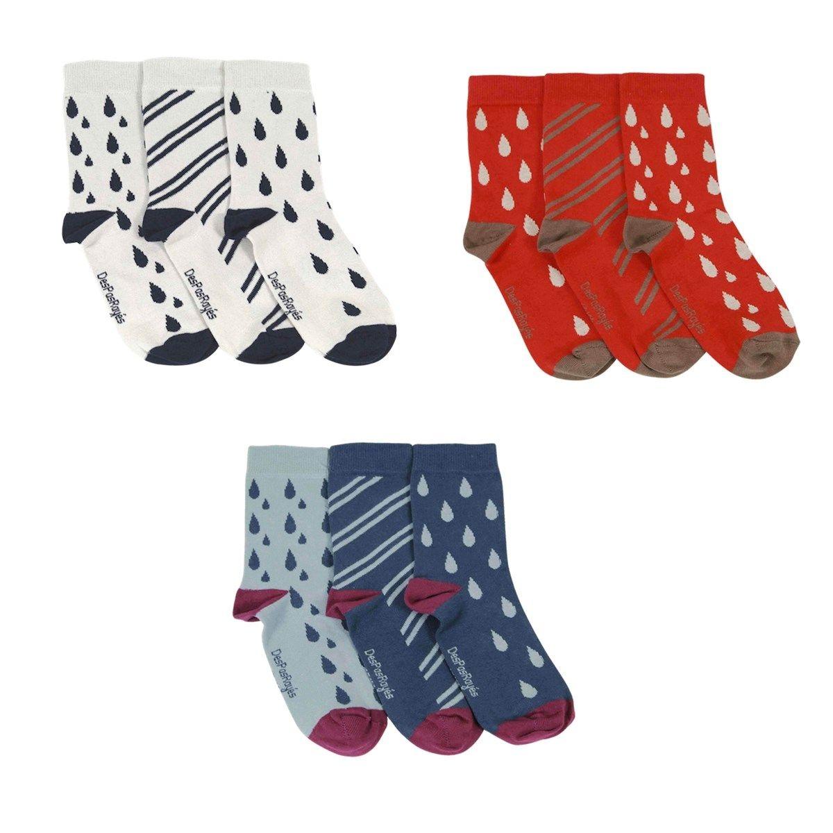 Pack chaussettes dépareillées Gouttes