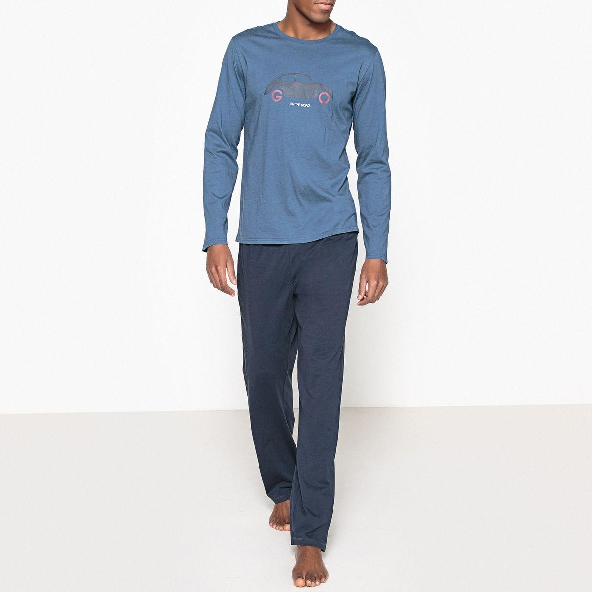 Pyjama long, impression poitrine