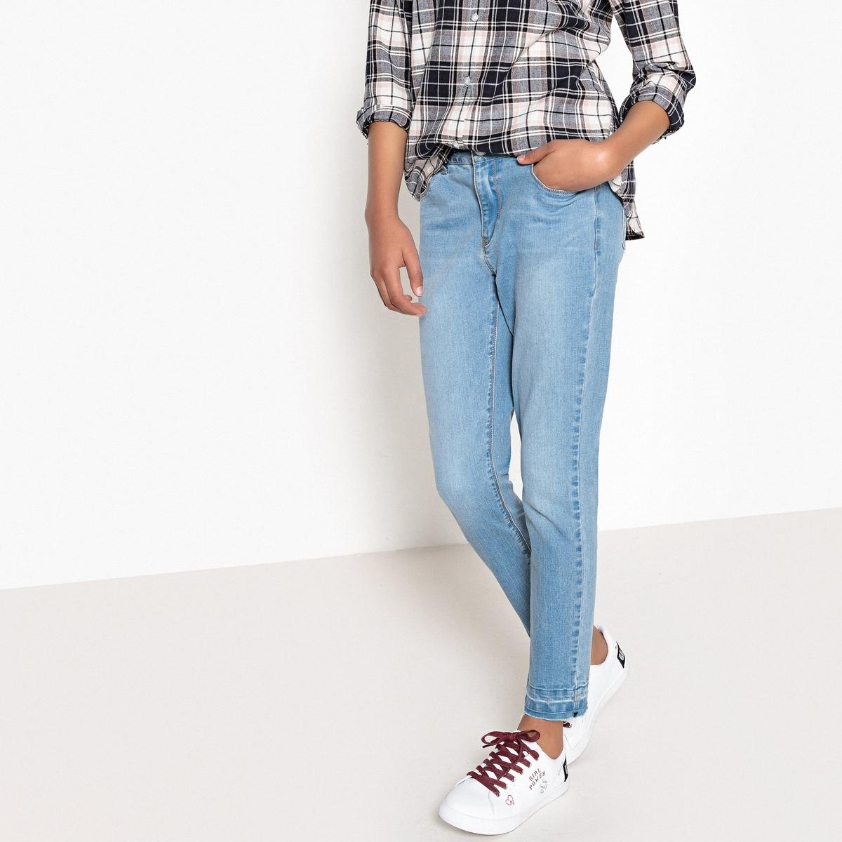 Джинсы-скинни с распущенными краями и вышивкой, 10-16 лет джинсы скинни облегающие для девочек 3 12 лет