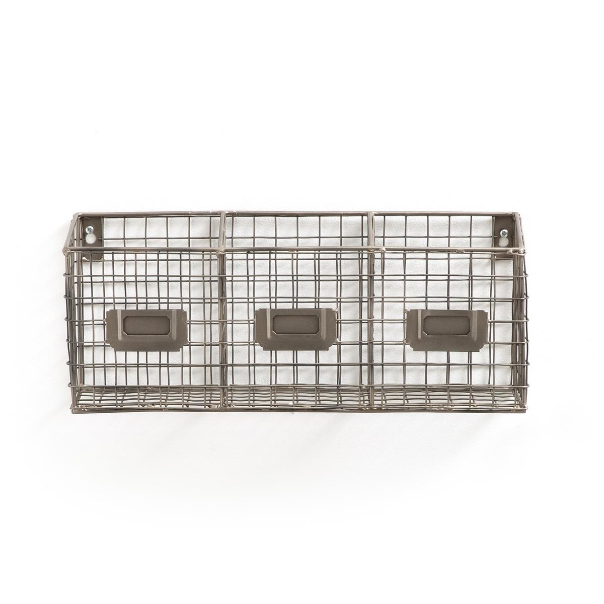 Стеллаж настенный для хранения из решетчатого металла