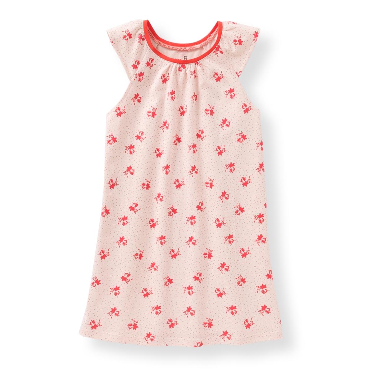 Сорочка ночная с цветочным рисунком,  2-12 лет
