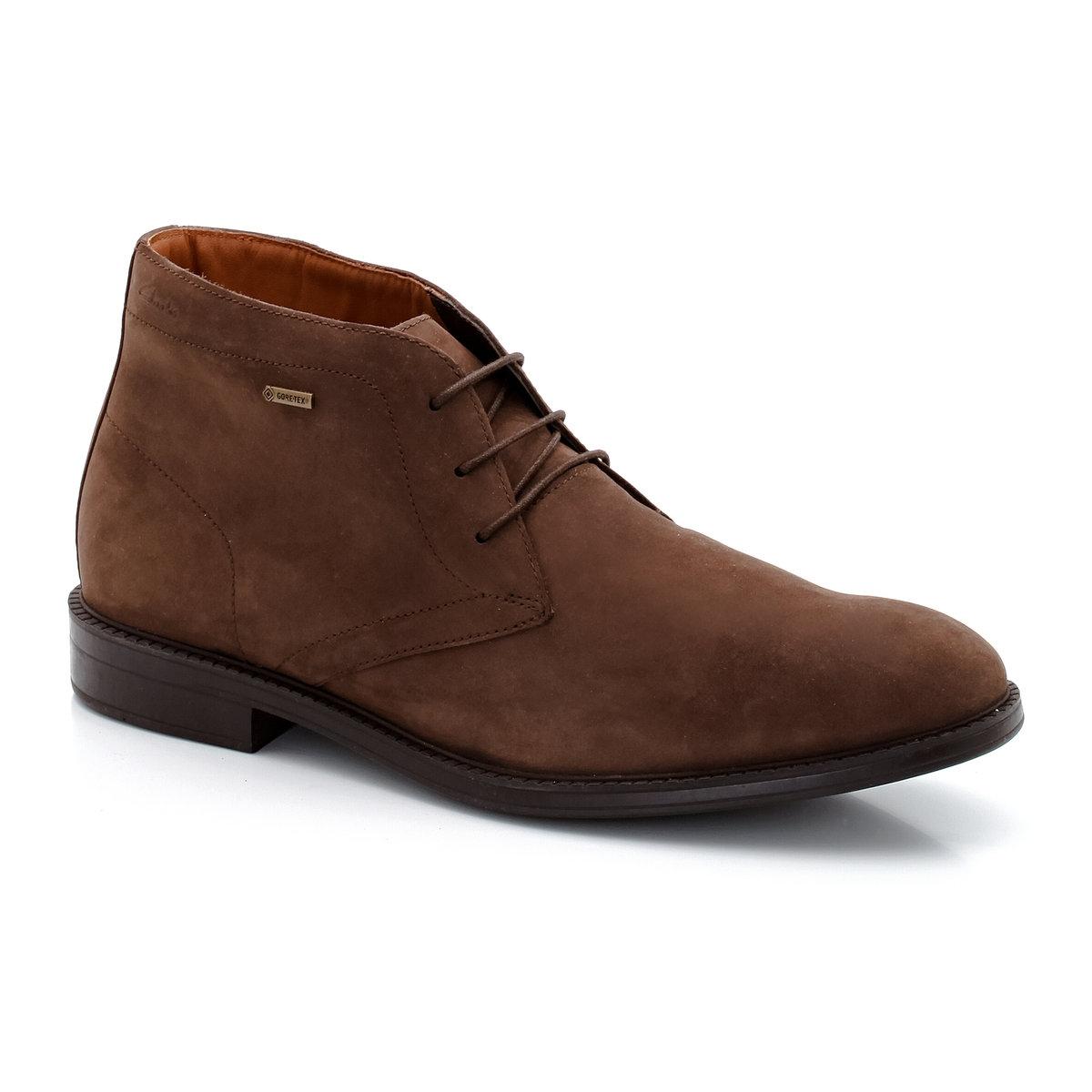 Ботинки кожаные Chilver HiДетали  •  Высота голенища : 14 см, размер 37 •  Высота каблука : 3 см •  Застежка : шнуровка •  Круглый мысокСостав и уход   •  Верх 100% нубук •  Подкладка 100% текстиль •  Стелька 100% кожа •  Подошва 100% каучук<br><br>Цвет: каштановый