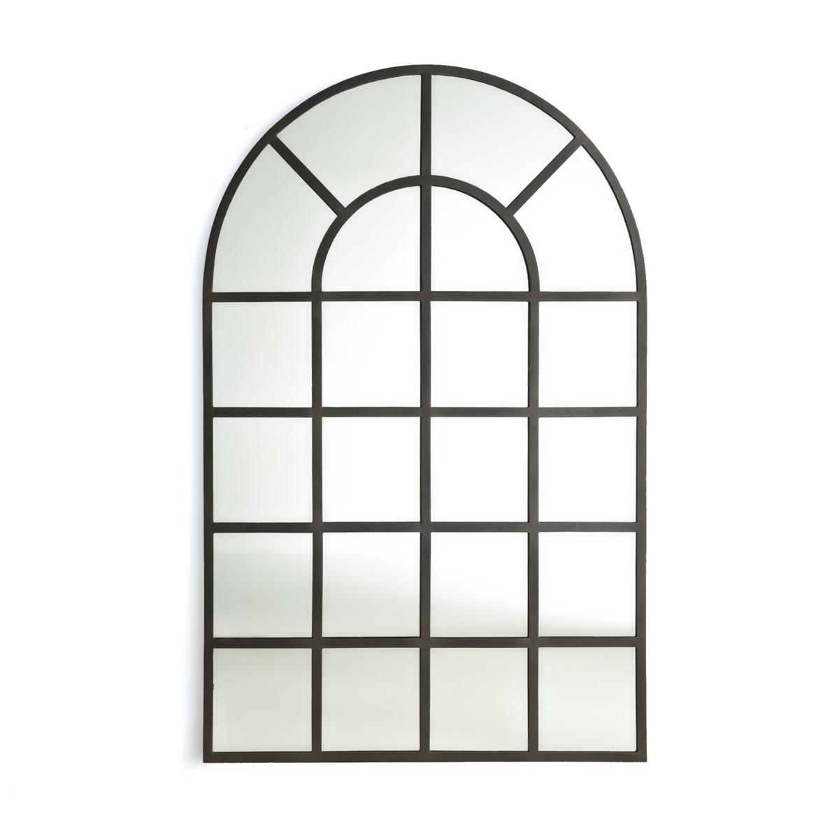 Зеркало La Redoute В индустриальном стиле в виде окна В см Lenaig единый размер серый