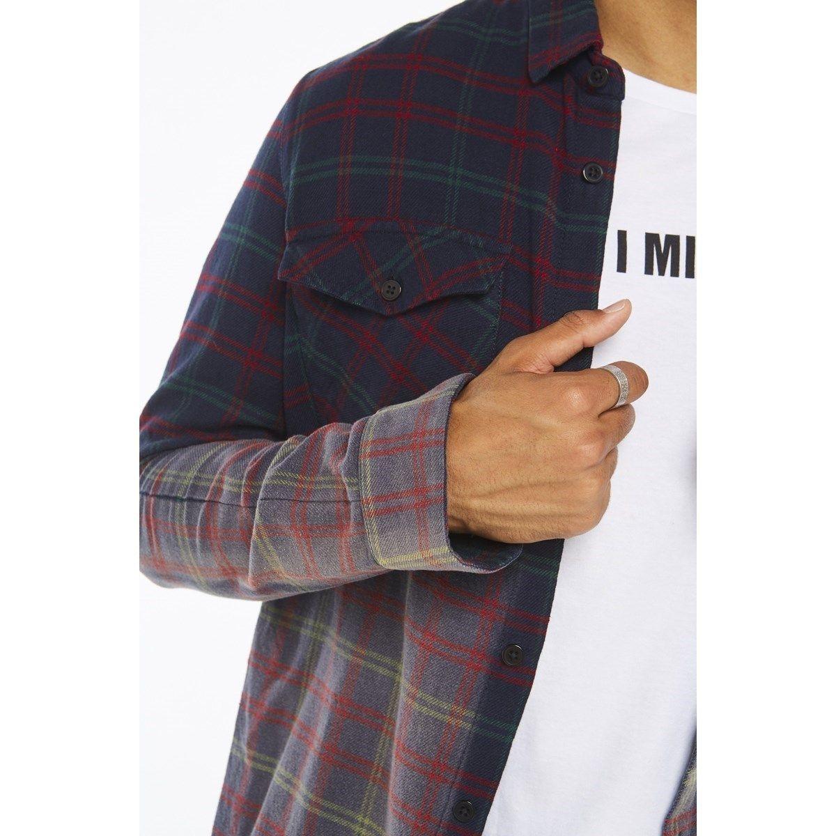 Chemise à carreaux manches longues NILSON
