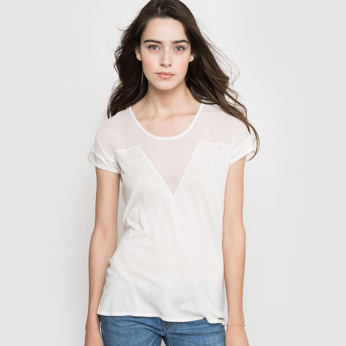Пуловер без рукавовСостав и описаниеМатериал 65% вискозы, 35% полиамида Длина 61 см Марка KAPORAL<br><br>Цвет: экрю<br>Размер: XL