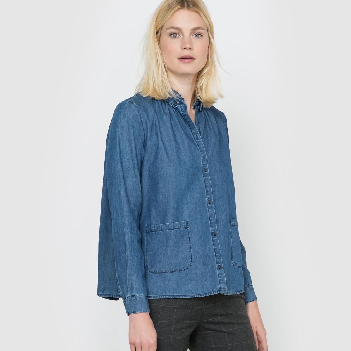 Рубашка джинсовая с длинными рукавами. рубашки dc shoes рубашка с длинными рукавами