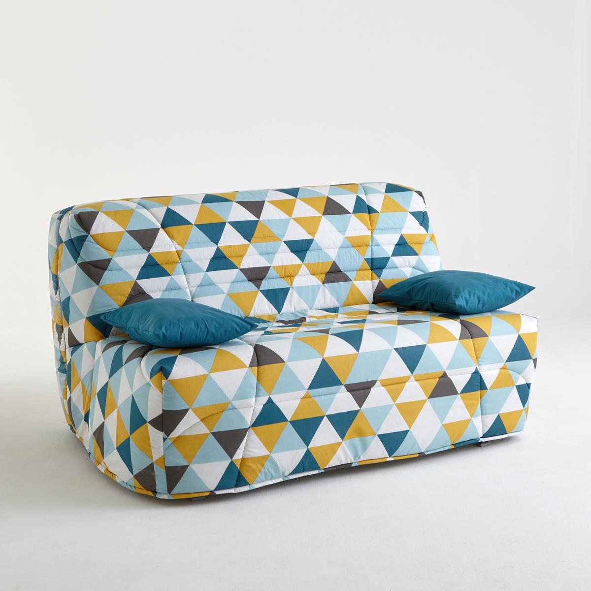 Чехол для дивана-книжкиЧехол для дивана-книжки, усовершенствованная модель : Для дивана-книжки, чехол позволит продлить срок службы вашего дивана-книжки !Для серо-коричневого цвета Размеры : 90 x 190 см.Сделано в Европе.Описание :- Стеганый чехол с наполнителем из полиэстера (250 г/м?)Застежка на молнию- Поставляется в комплекте с 2 чехлами на подушку-валик (кроме модели 90 см)Обивка :- Однотонная расцветка : 100% хлопок, пропитка от пятен (250 г/м?)- Расцветка с рисунком : 50% хлопка, 50% полиэстера- Меланжевая расцветка : 100% полиэстер- Предоставляем бесплатные образцы материала : Введите Образцы дивана-книжки в поисковой системе на сайте laredoute.ruОткройте для себя другие модели коллекции BZ на сайте laredoute.ruРазмеры :3 варианта ширины :Ширина : 90 смШирина : 140 смШирина : 160 смРазмер подушки-валика : Ш.50 x В.40 x Г.12 см<br><br>Цвет: рисунок здания нью-йорка,рисунок из треугольников<br>Размер: 160 x 200  см