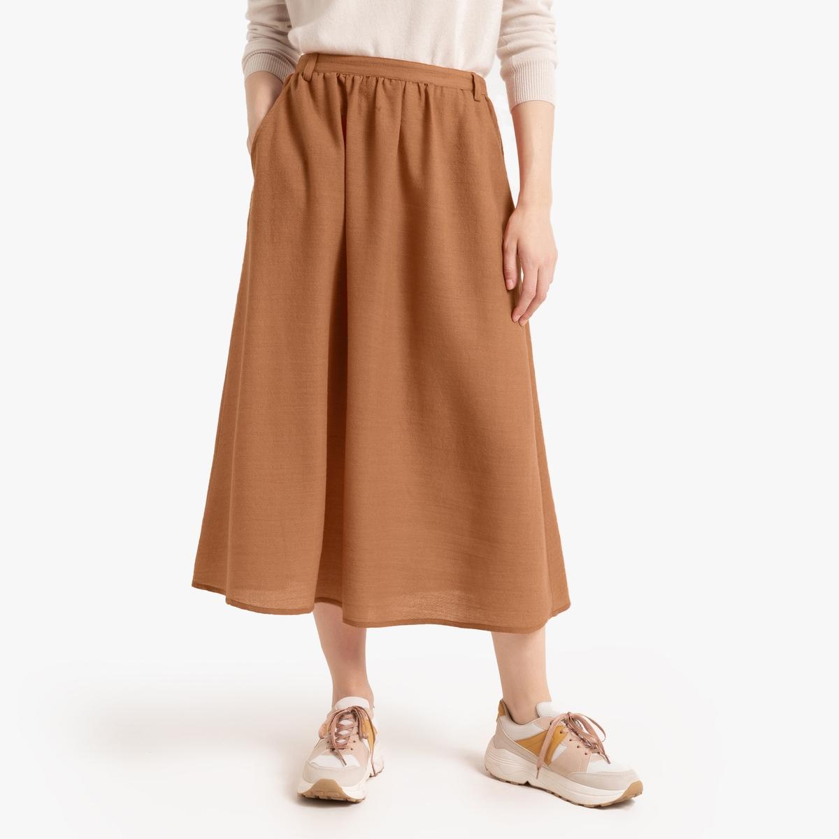 Falda larga de estameña de lana