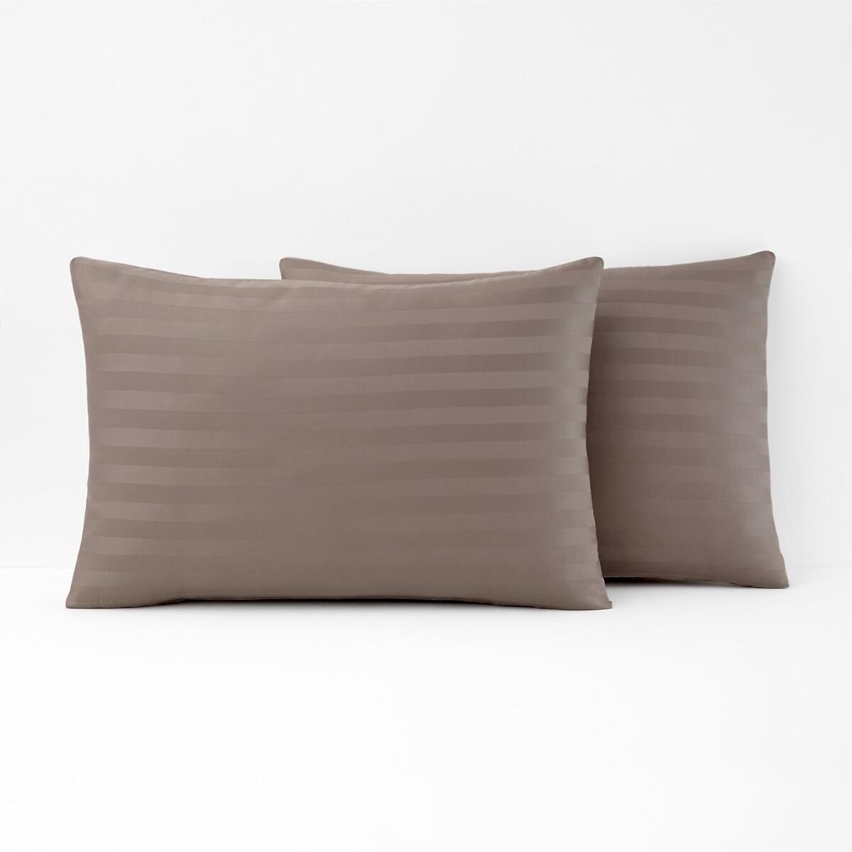 Striped Cotton Satin Pillowcase