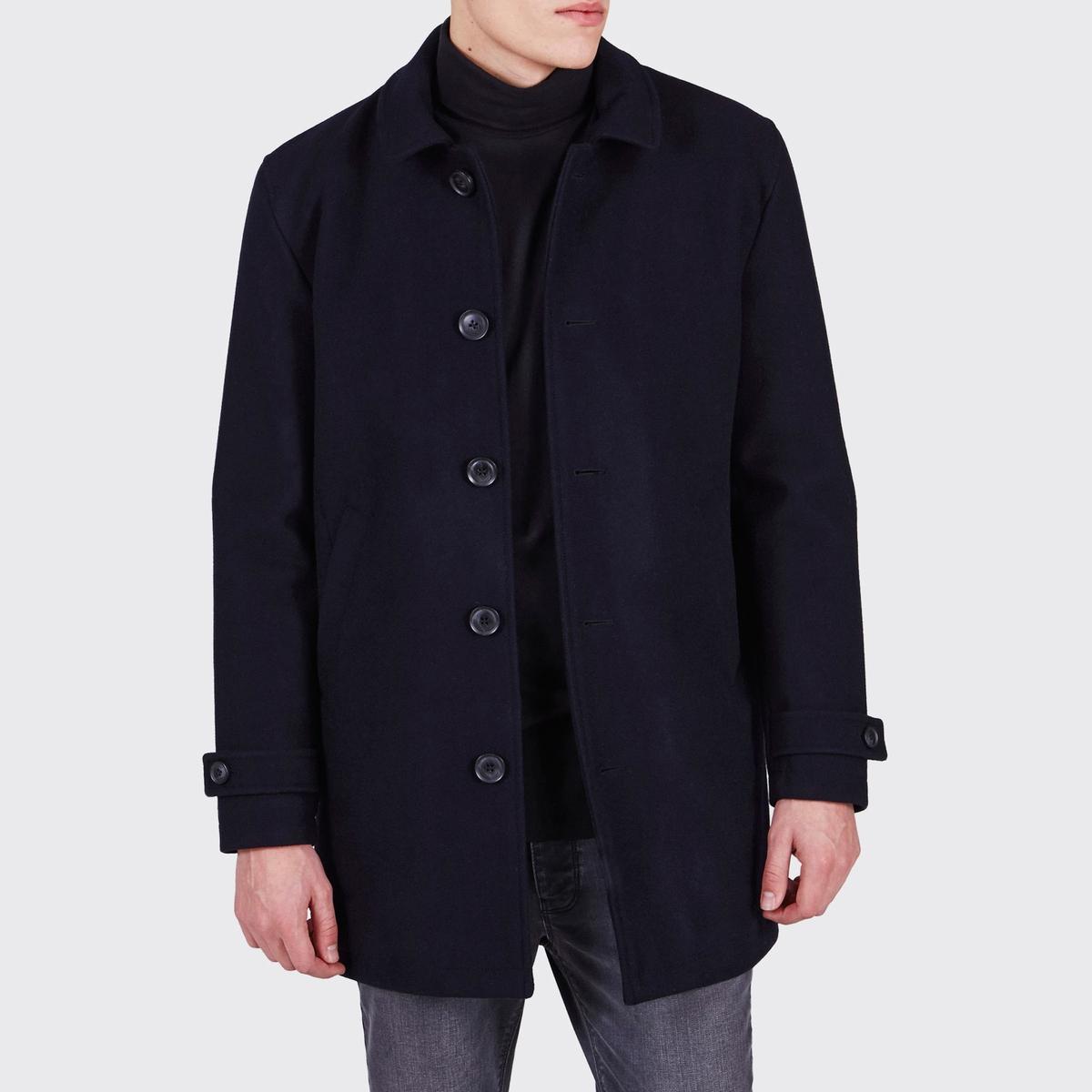 Пальто-жакет Jenkings, 50% шерстиСостав и описание:Материал: 50% шерсти, 50% полиэстера.Марка: MINIMUM.<br><br>Цвет: темно-синий<br>Размер: L.XL