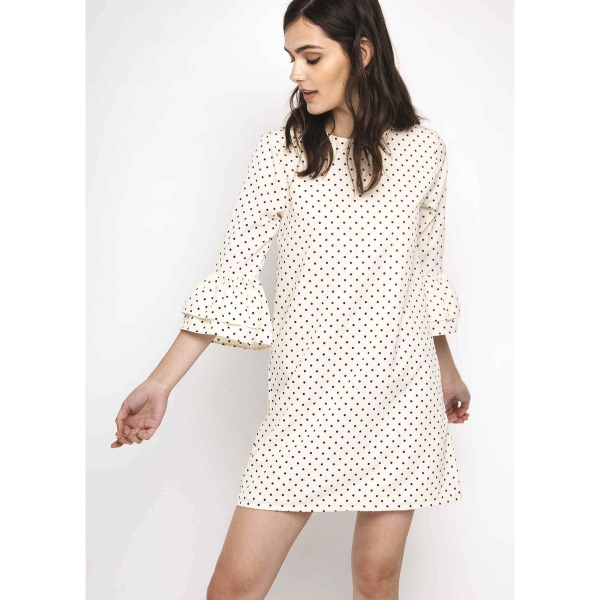 Платье прямое короткое с рукавами 3/4 от COMPANIA FANTASTICA