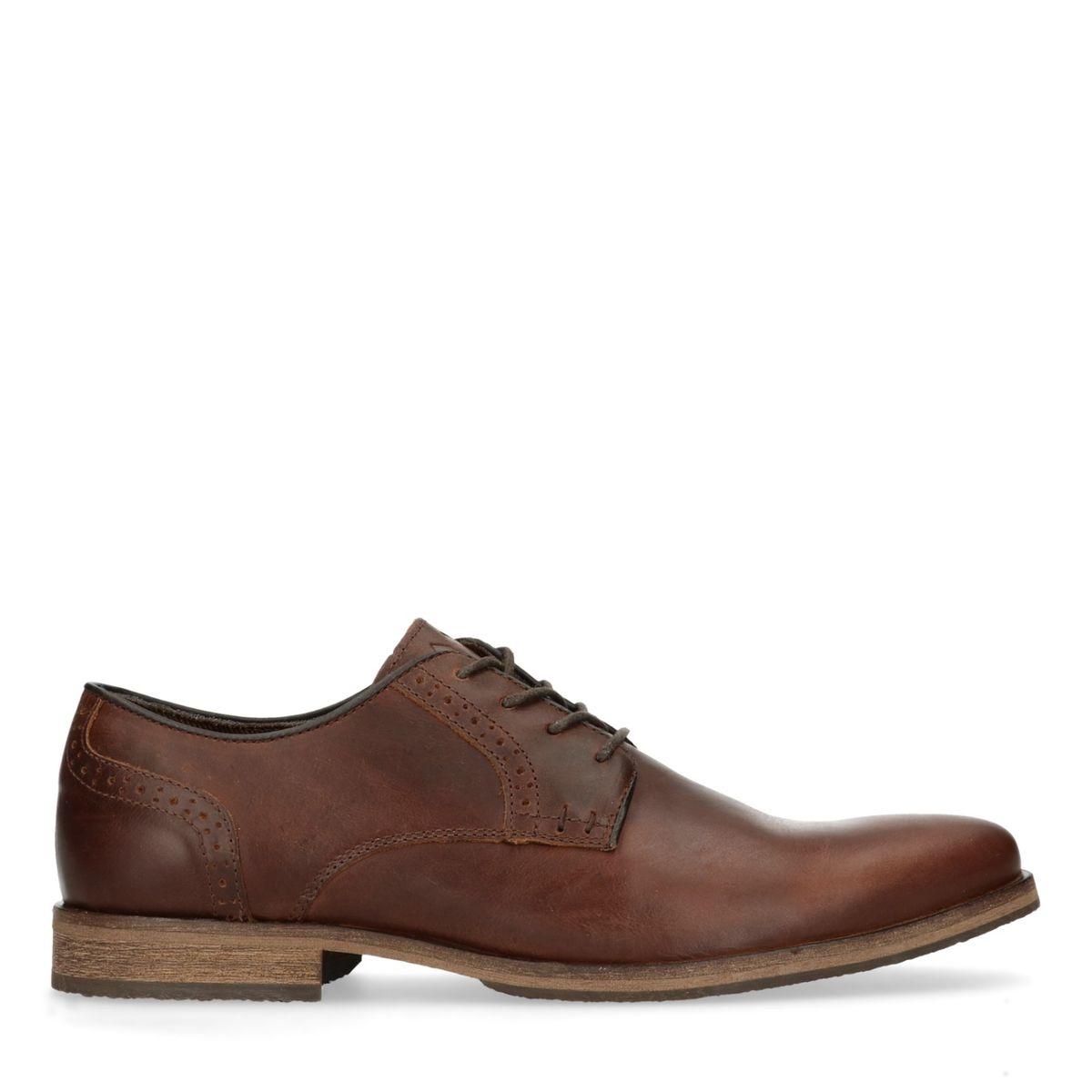 Chaussures à lacets en cuir avec perforations