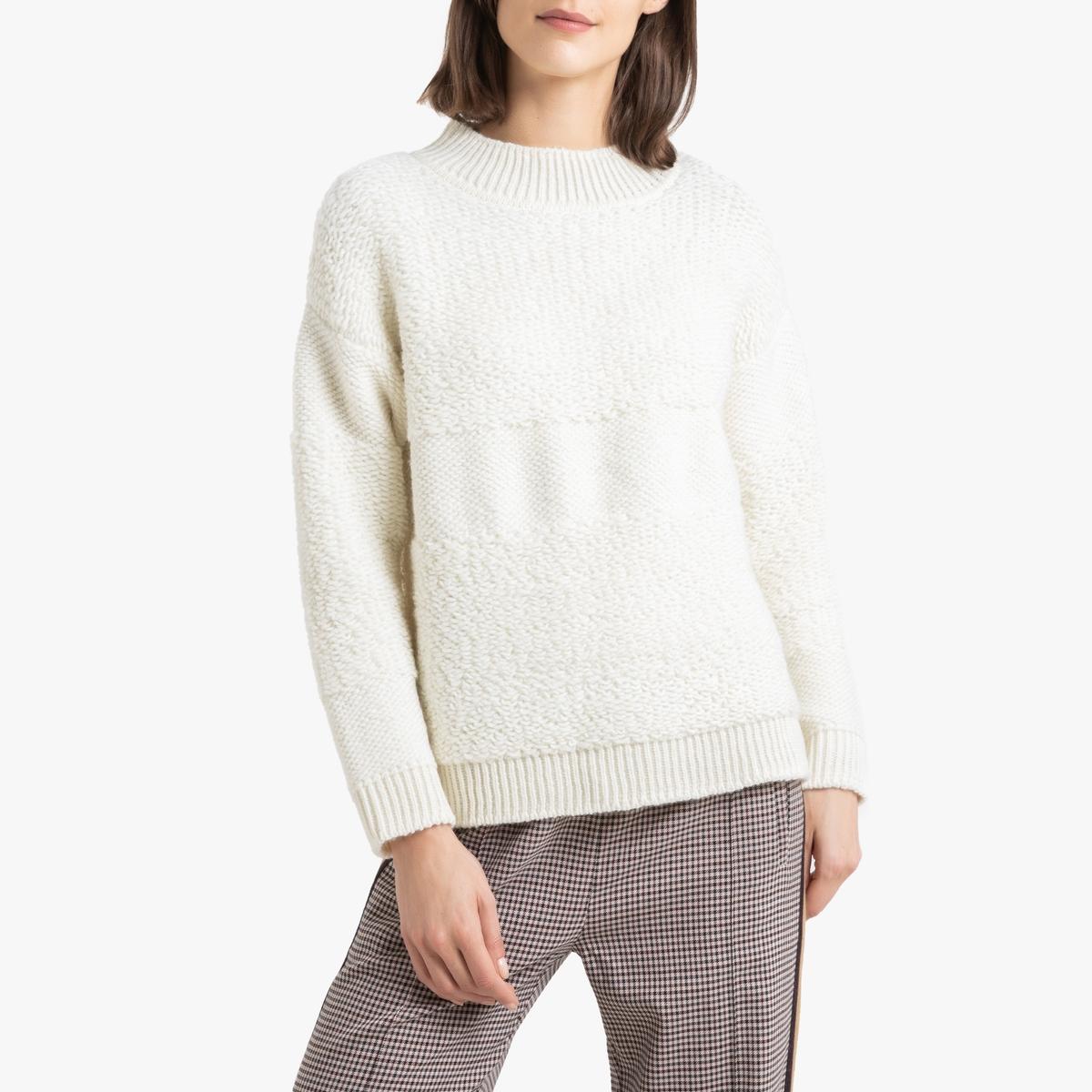 Пуловер La Redoute С круглым вырезом из тонкого трикотажа PAYTON 0(XS) бежевый цена