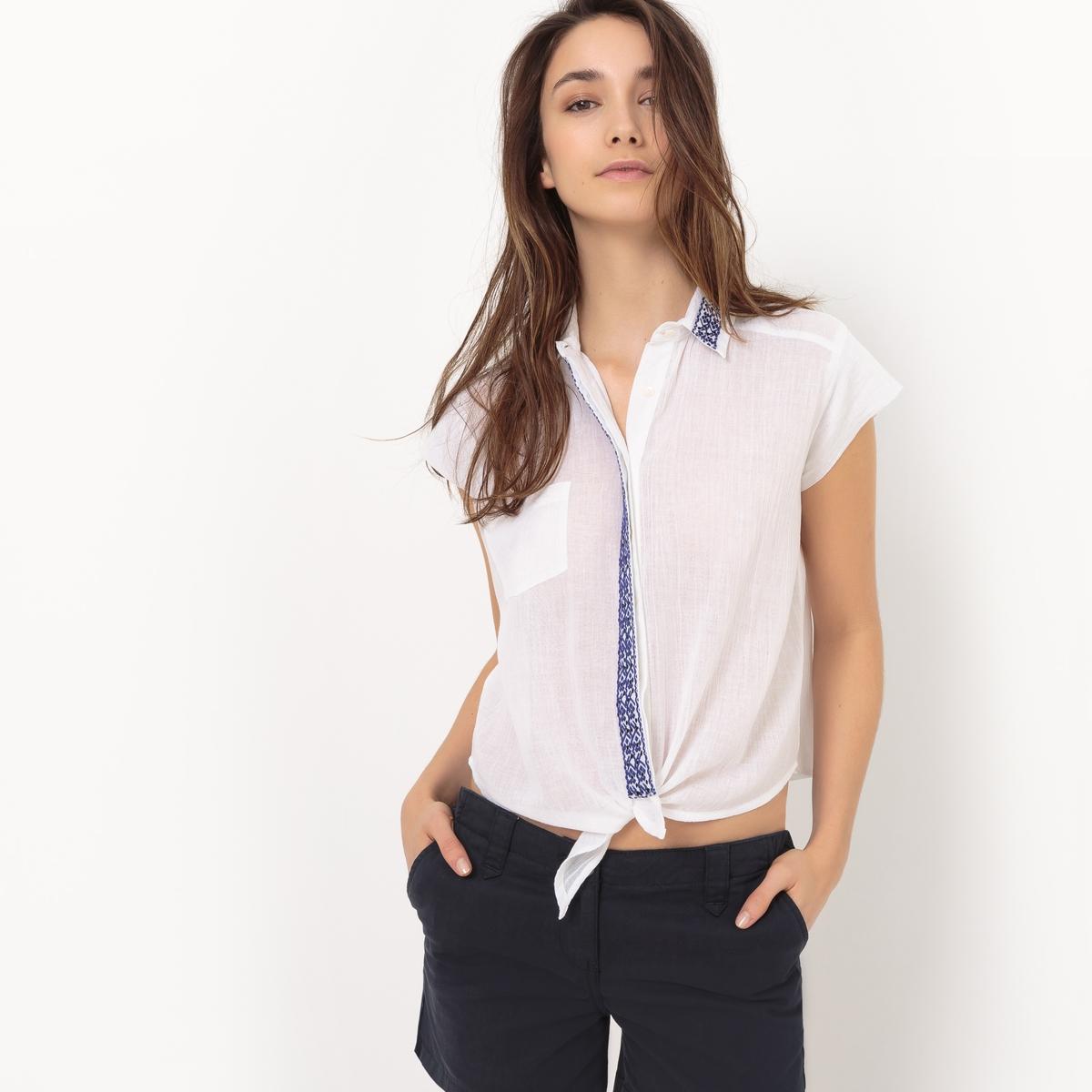 Рубашка без рукавов, с завязками