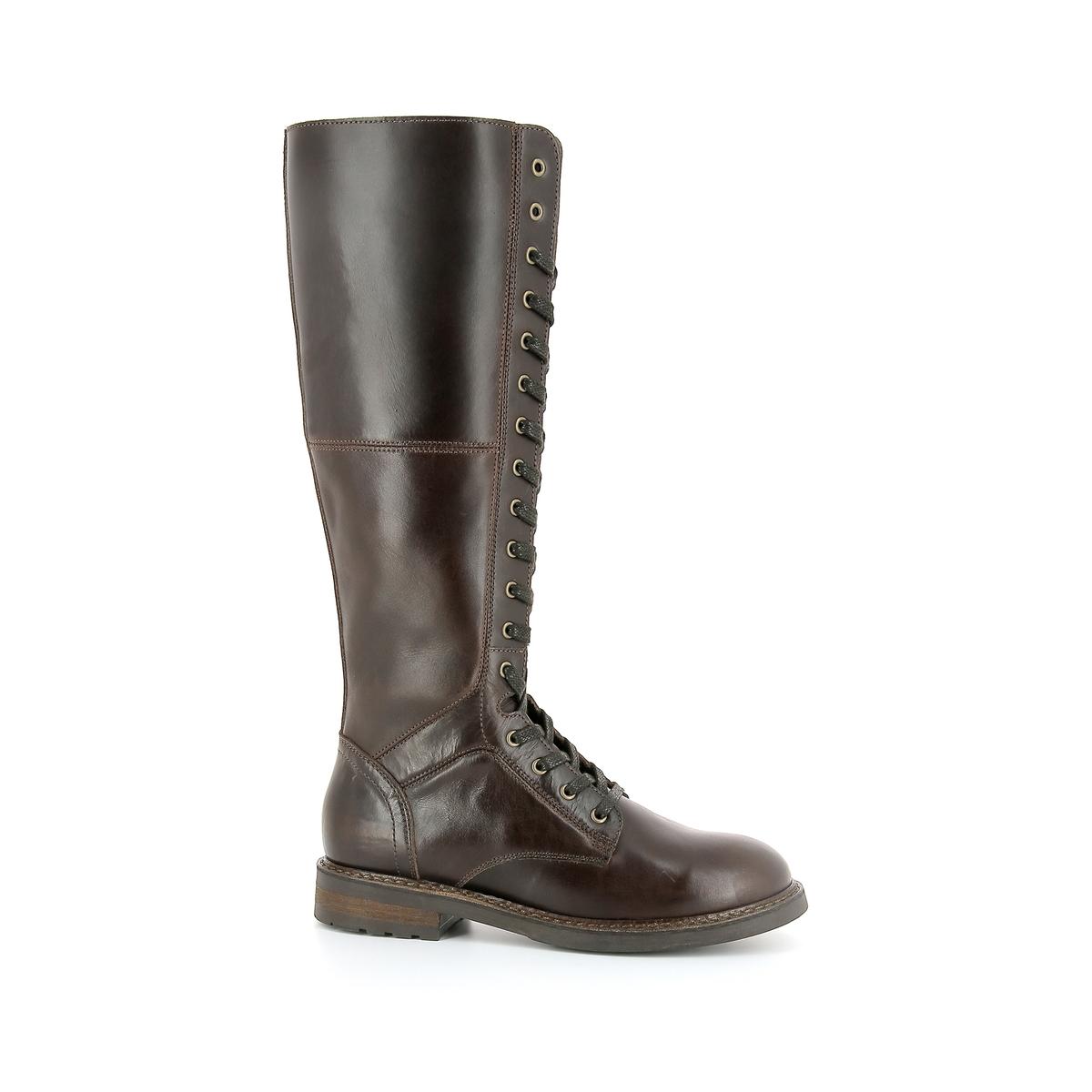 Сапоги-ботфорты кожаные Benji altuzarra кожаные сапоги