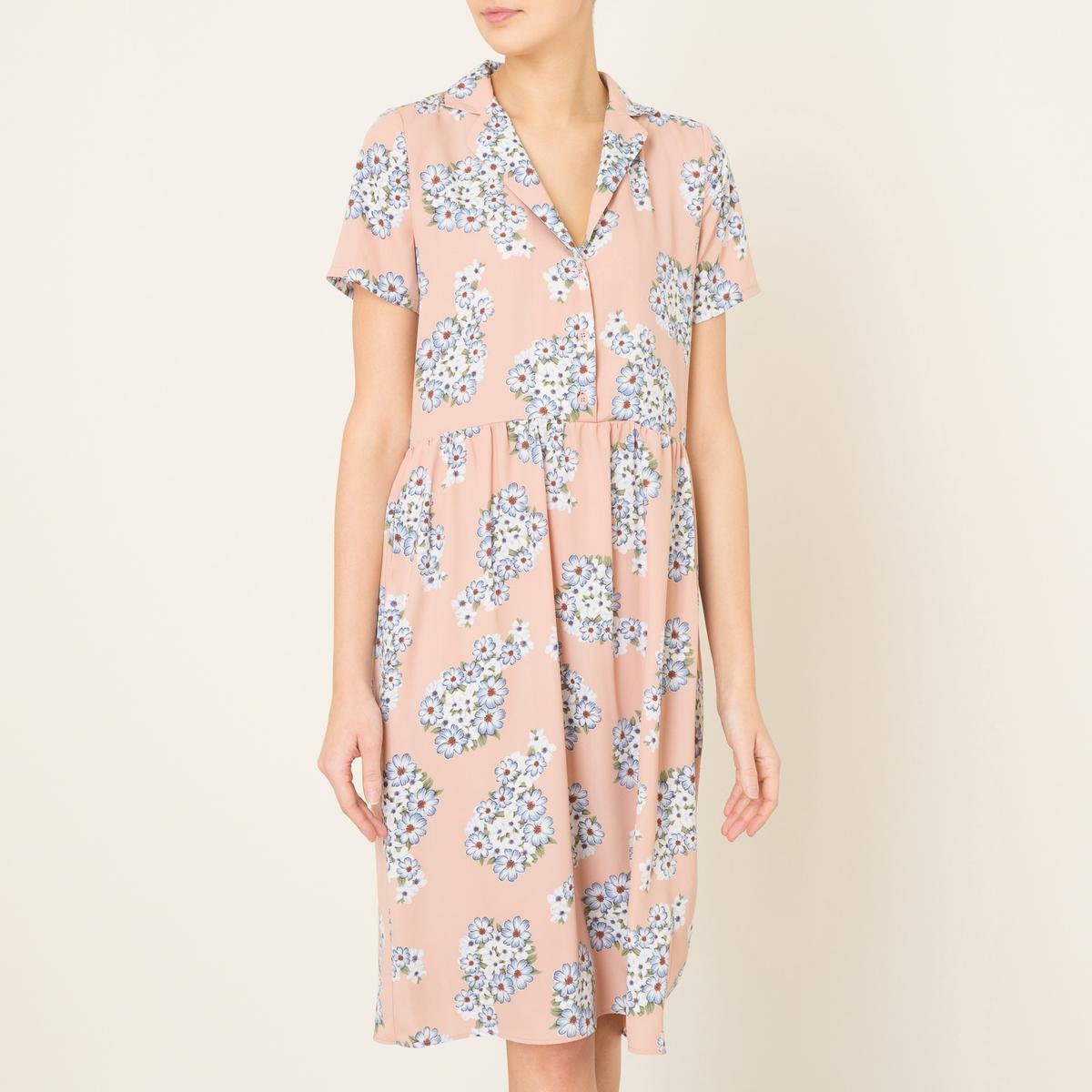Платье BARNEYСостав и описание Материал : 100% полиэстерДлина : ок. 104 см. (для размера S)Марка : LA BRAND BOUTIQUE<br><br>Цвет: наб. рисунок/ розовый<br>Размер: S
